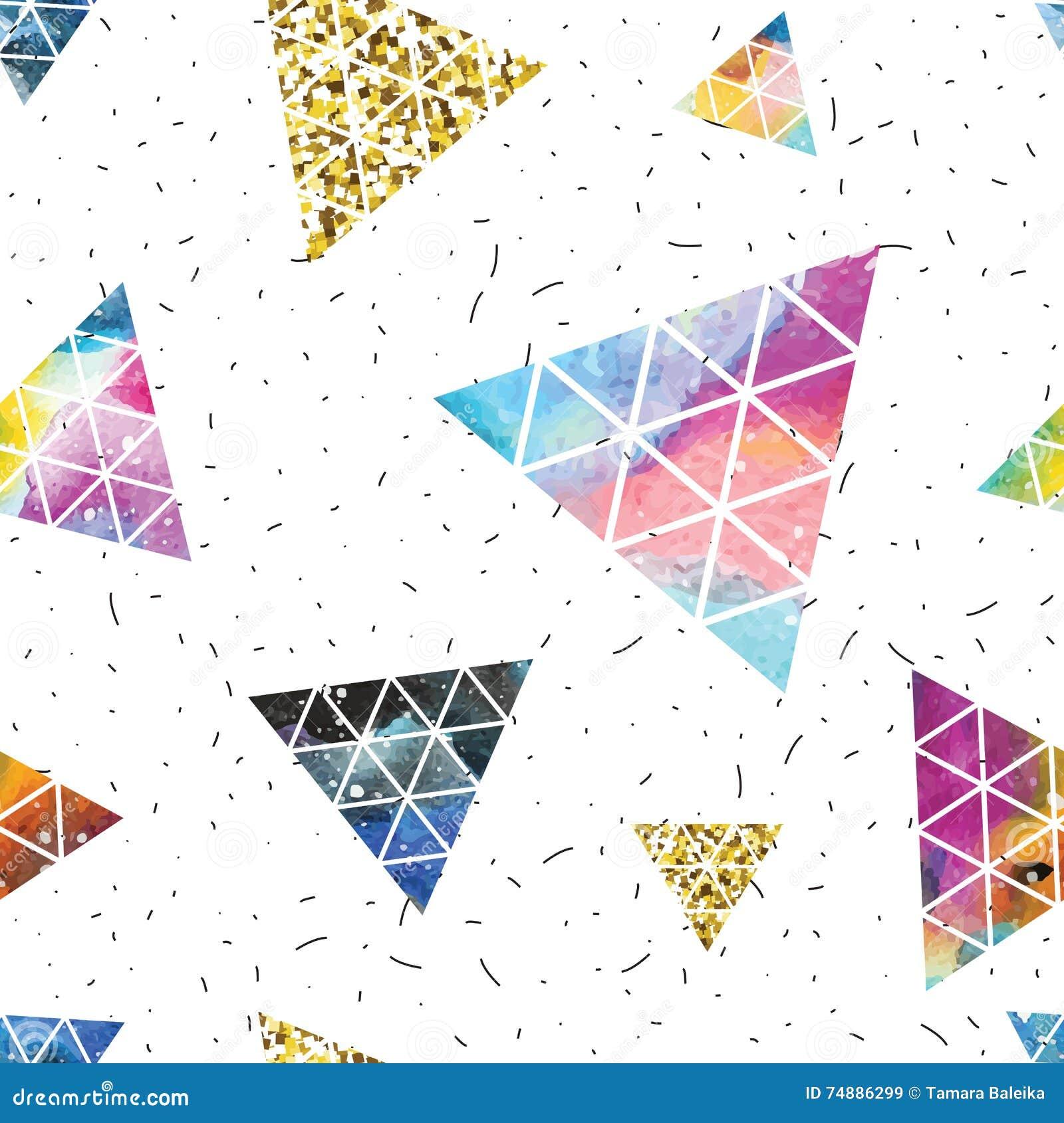 Projeto de espaço triangular Abstraia o ornamento