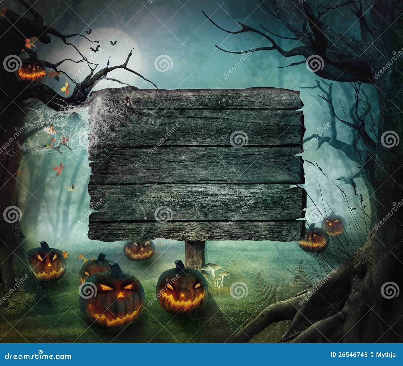 Projeto de Halloween - abóboras da floresta