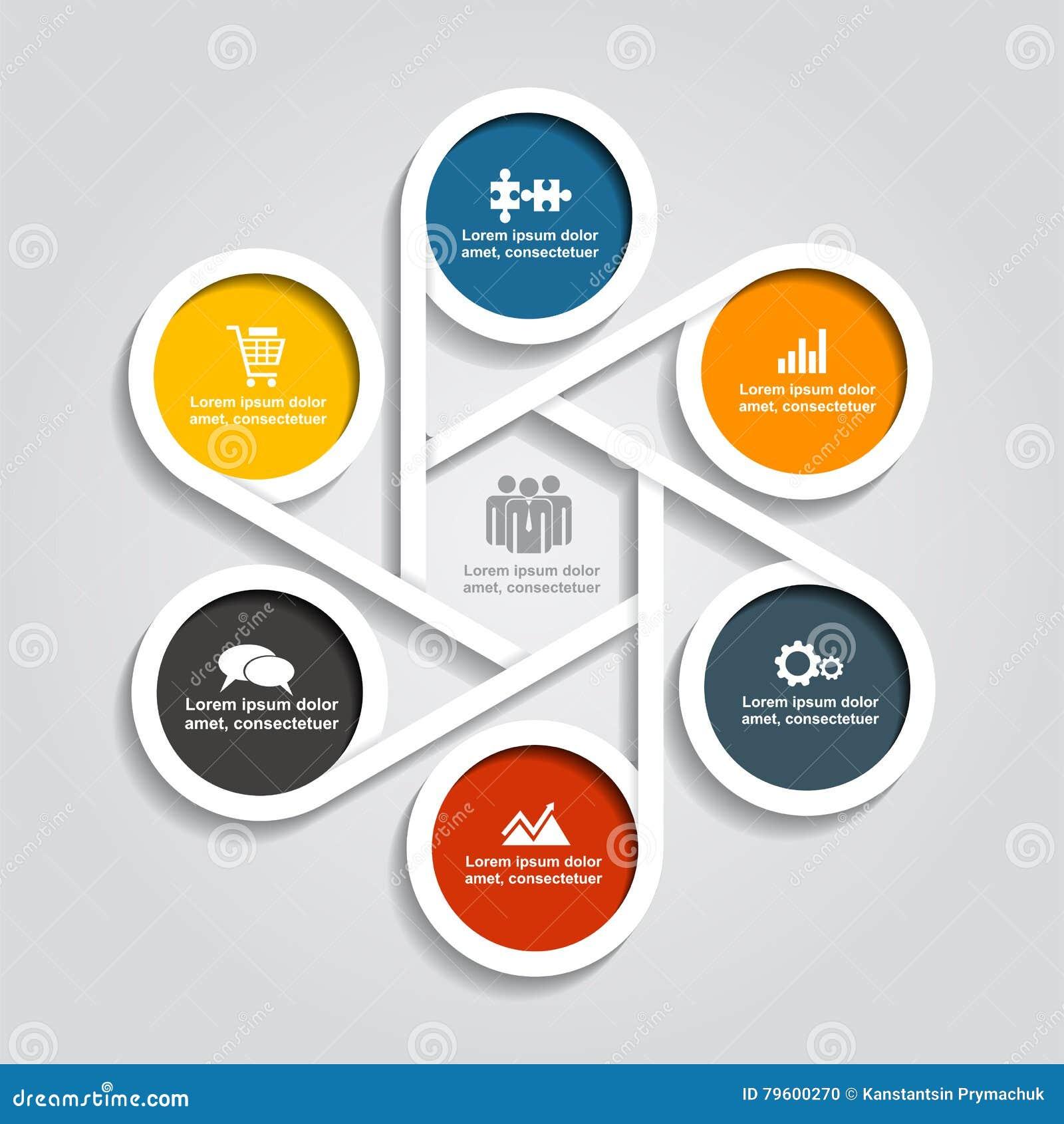 Projeto de Infographic com elementos e ícones Ilustração do vetor