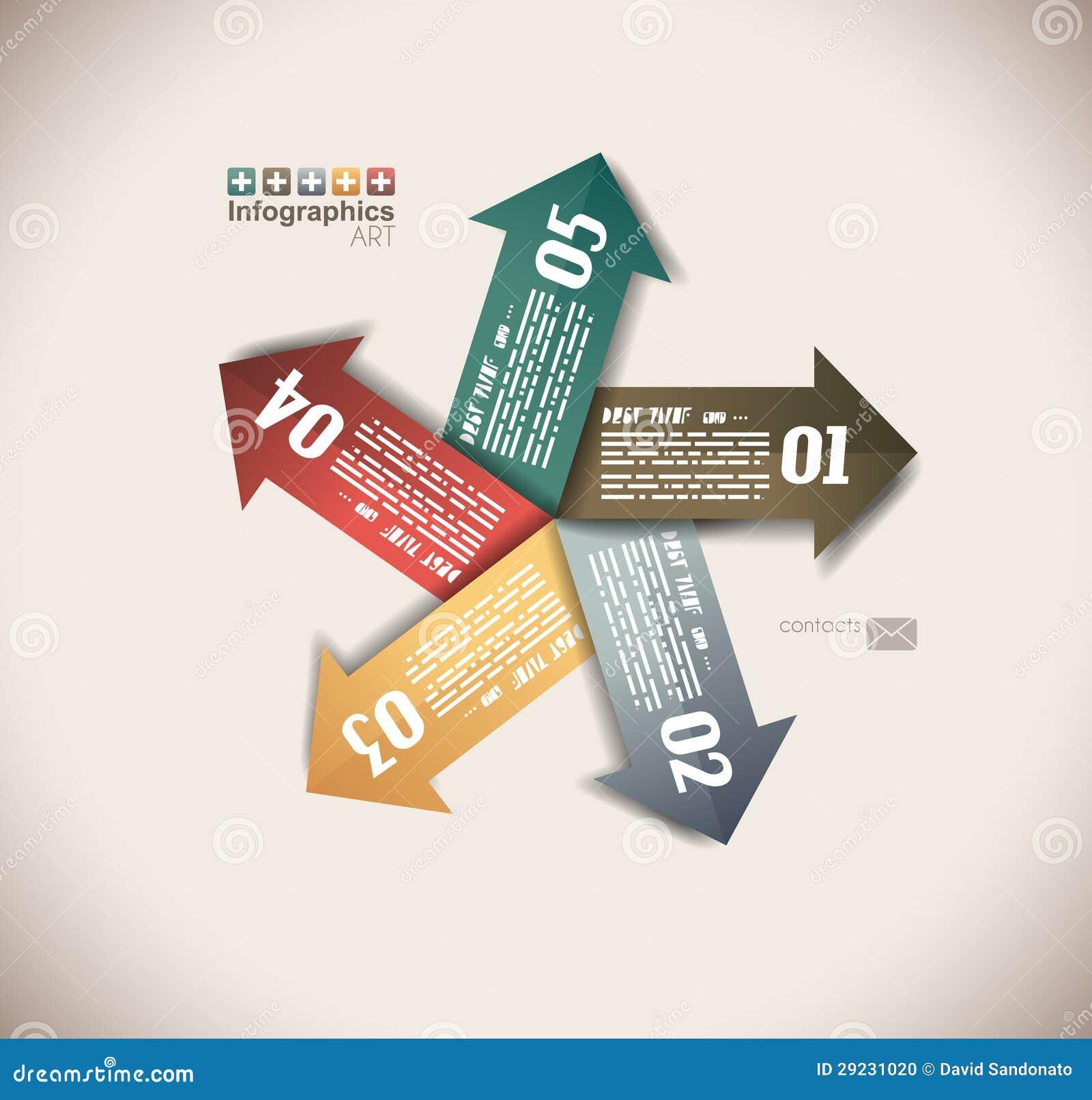 Download Projeto De Infographic - Tag Do Papel Original Ilustração Stock - Ilustração de coleção, original: 29231020