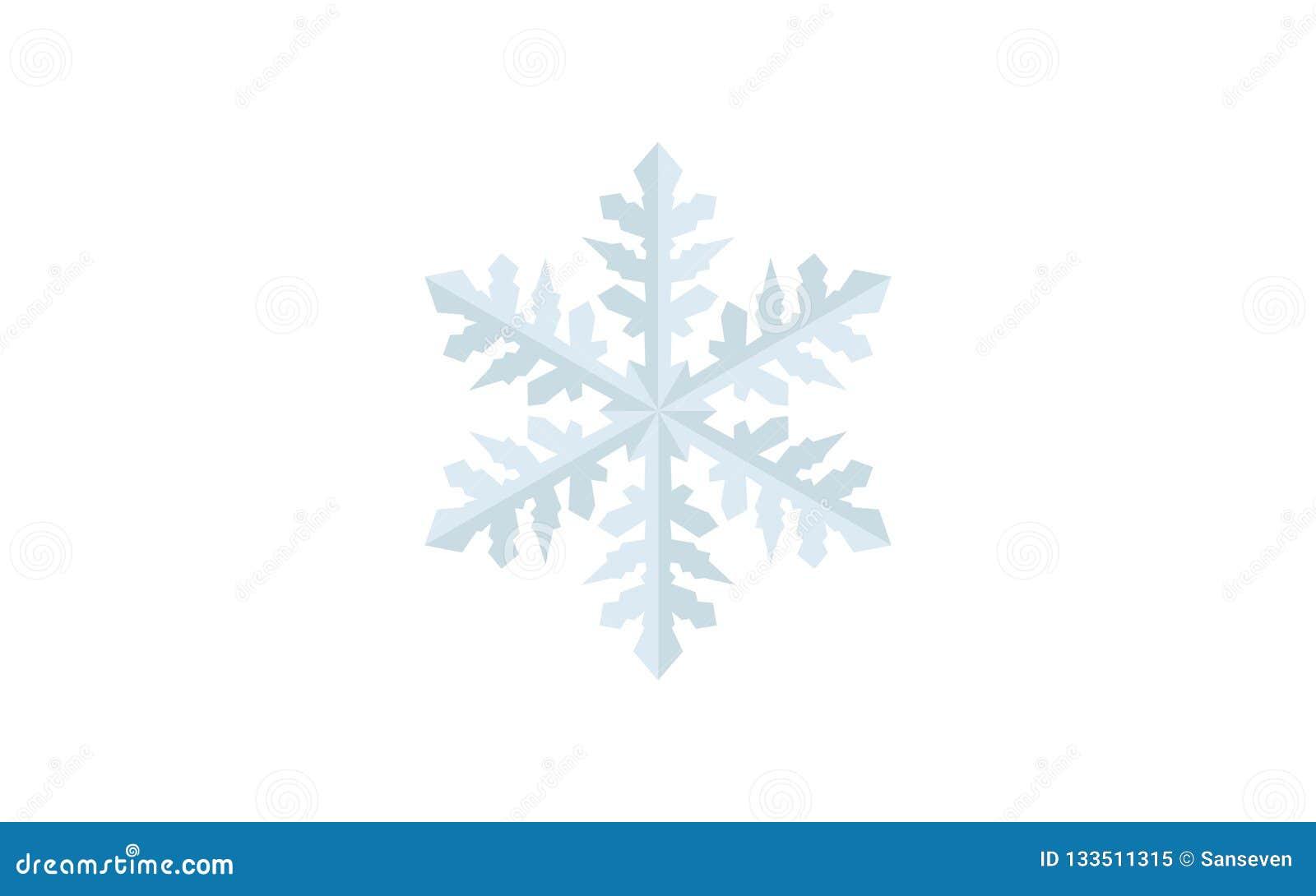 Projeto detalhado do vetor do floco de neve - tempo do feriado no inverno, comemoração Feliz Natal