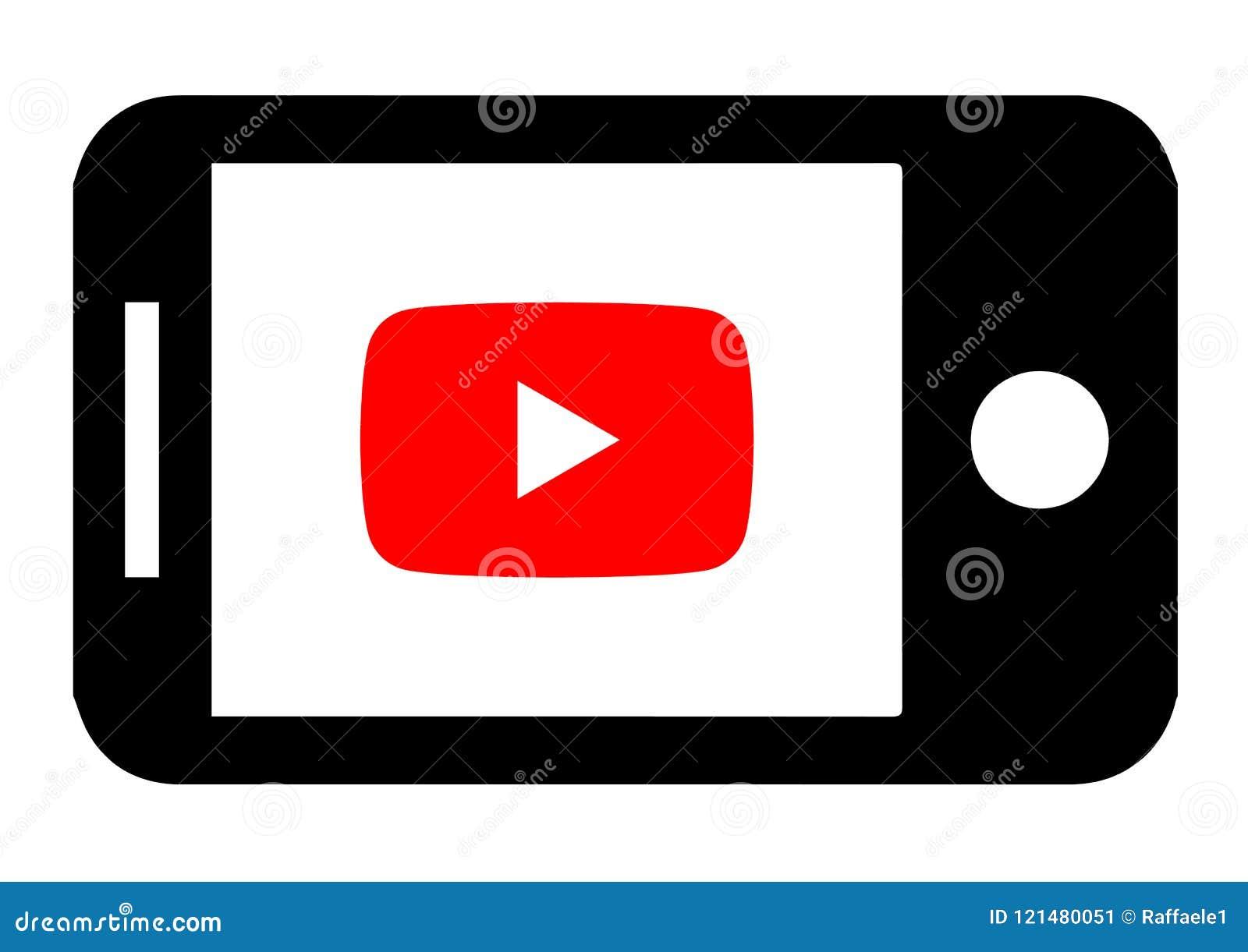 Projeto do ícone de Youtube do dispositivo Áudio, gráfico