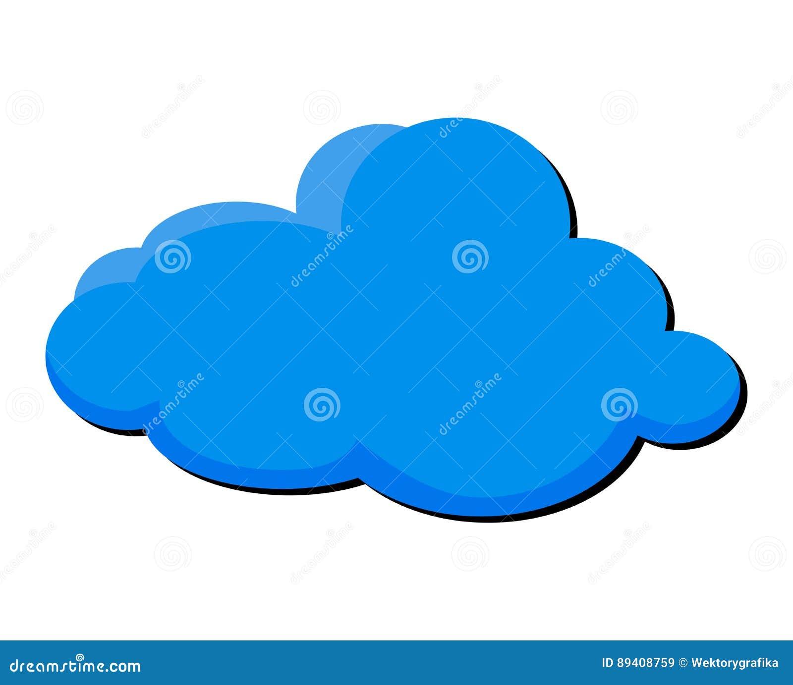 Projeto do ícone do símbolo do vetor da nuvem dos desenhos animados