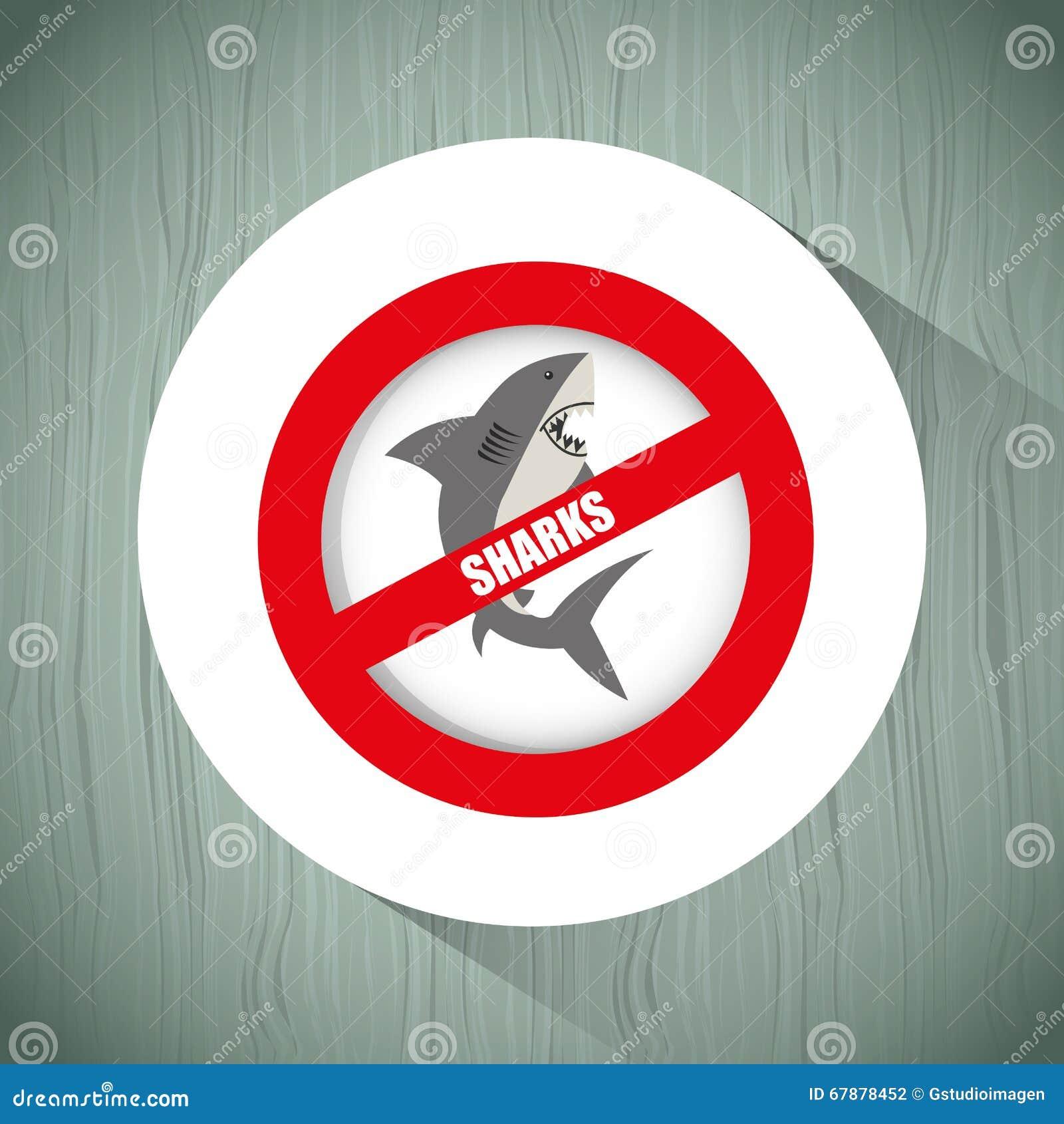 Projeto do ícone do tubarão