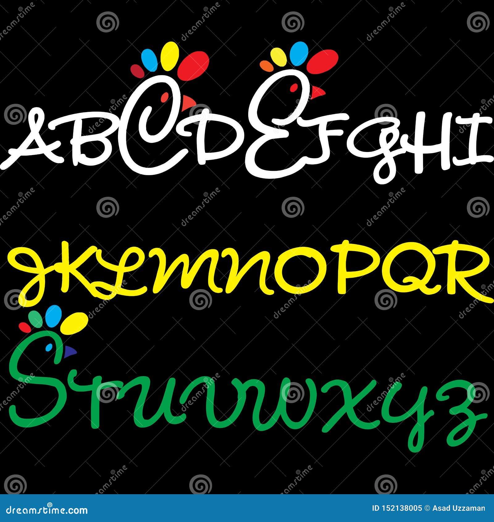 Projeto do alfabeto para crianças