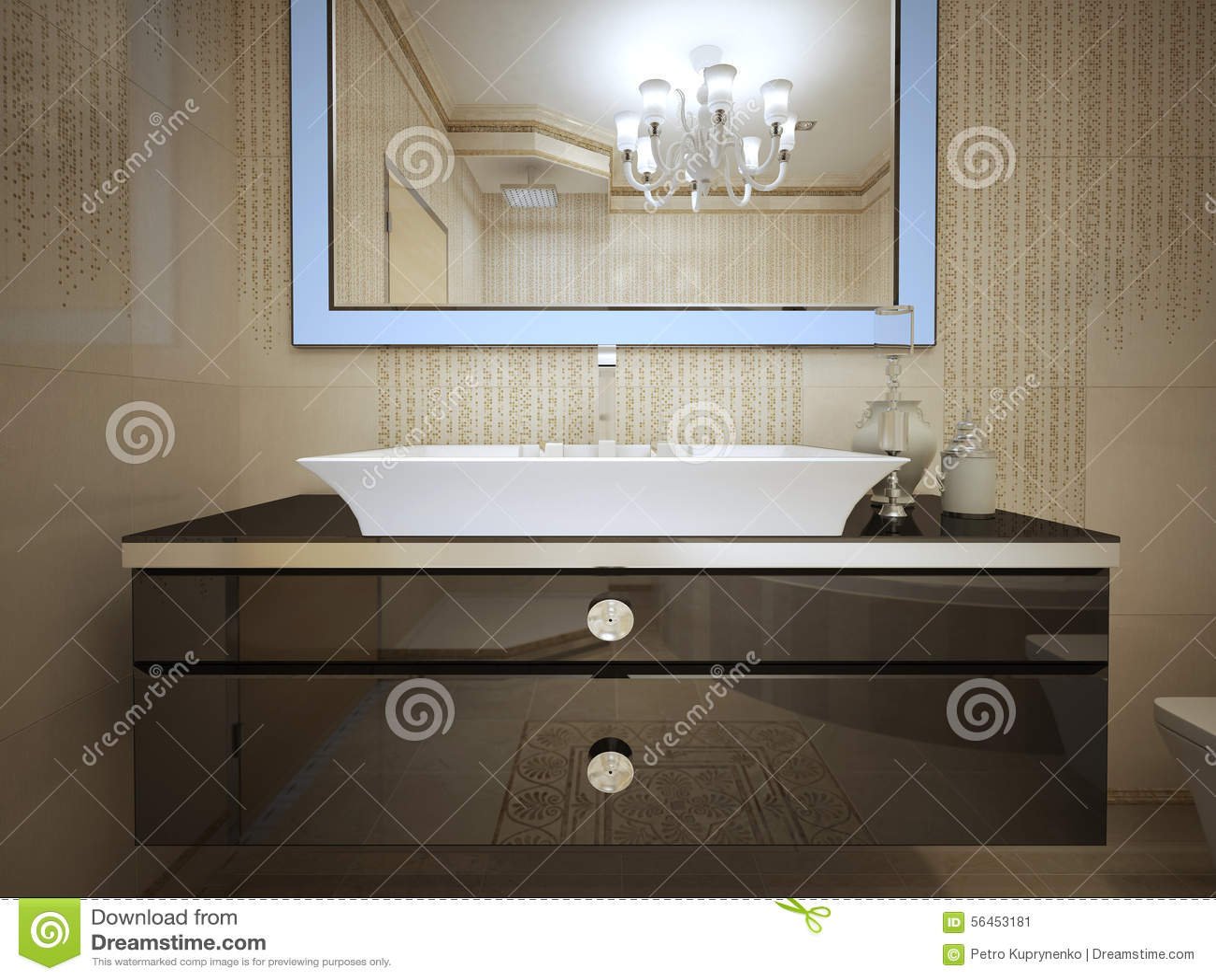 Projeto Do Banheiro De Art Deco Foto de Stock Imagem: 56453181 #82A328 1300 1065