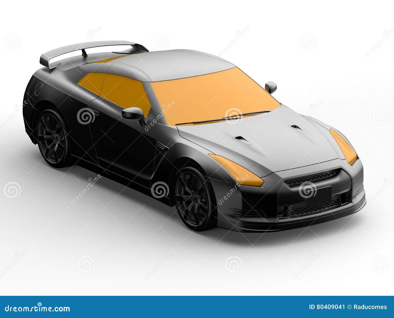 Projeto do carro 3D do conceito