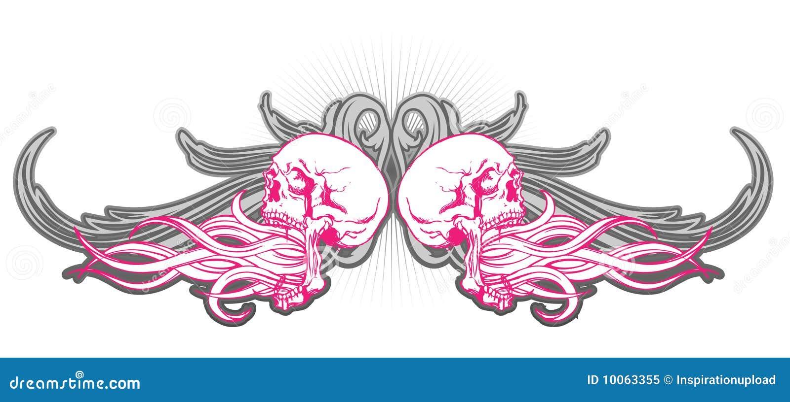 Projeto do crânio na cor-de-rosa