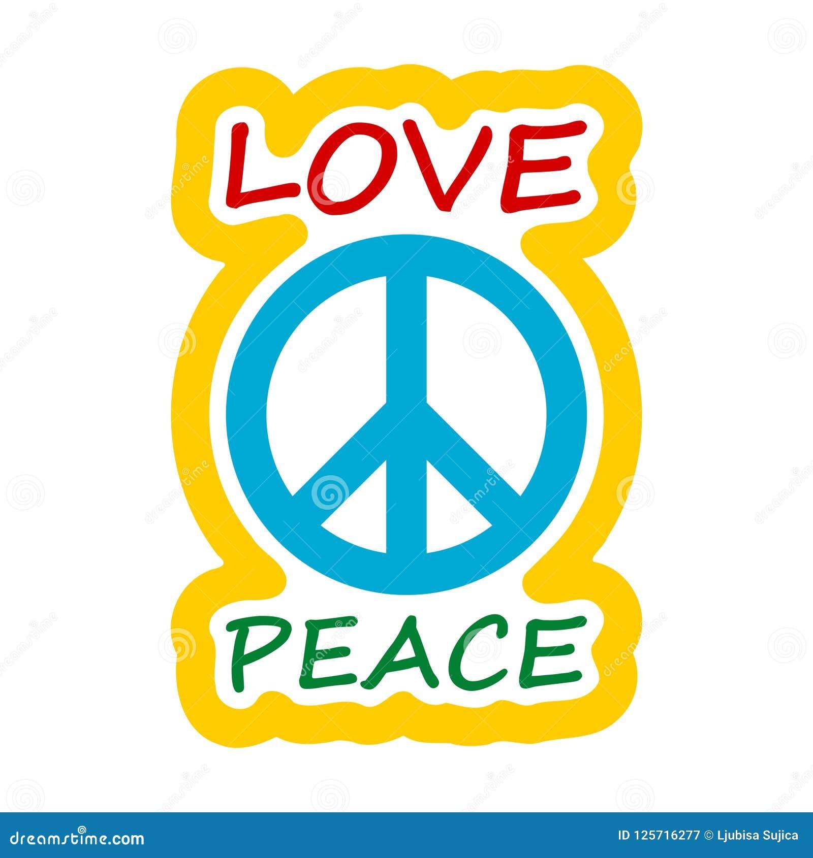 Projeto do estilo da hippie do amor e da paz