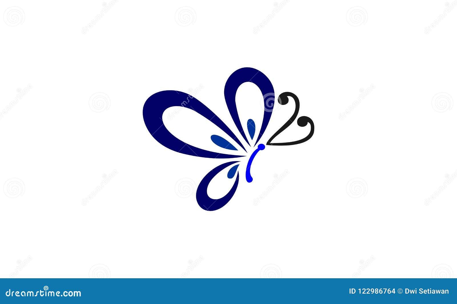 Projeto do logotipo da borboleta