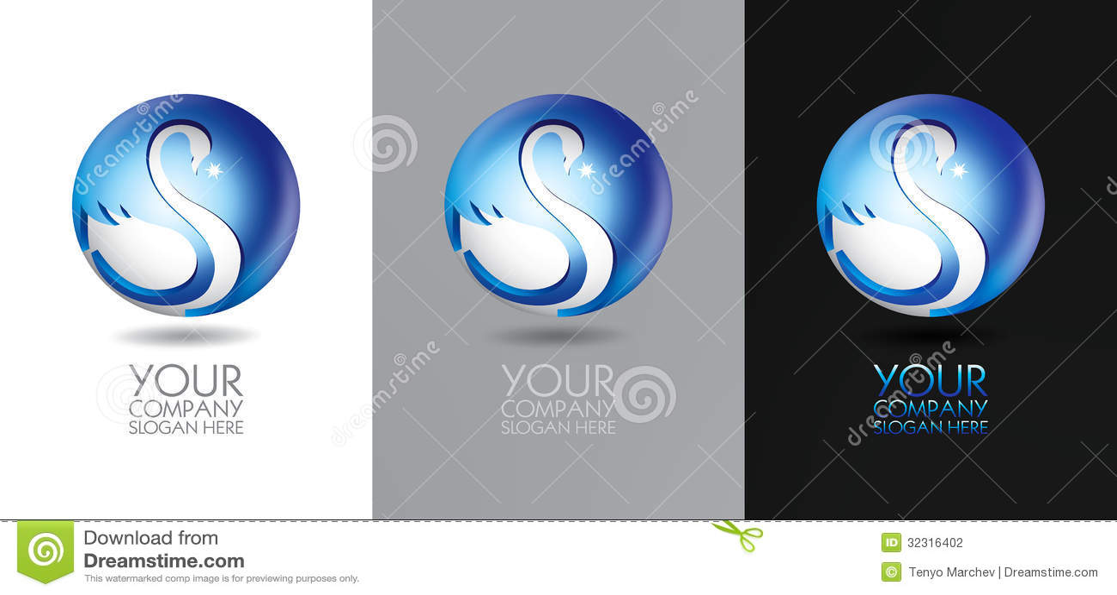 Projeto do logotipo da cisne