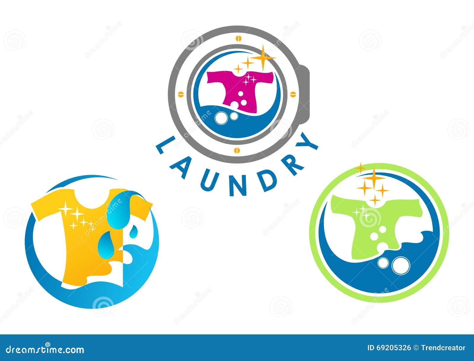 Projeto do logotipo da lavanderia