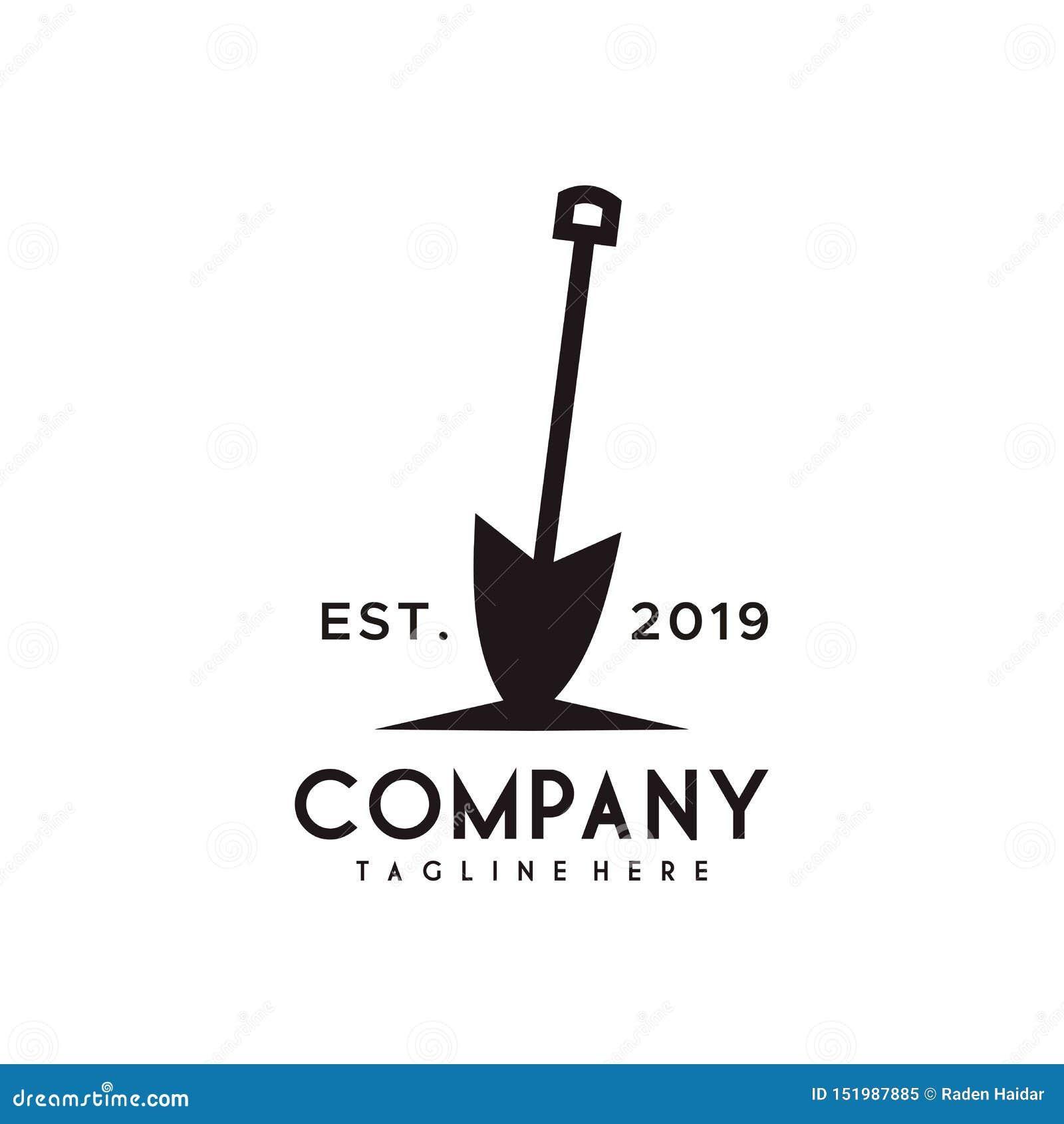 Projeto do logotipo da pá ou da pá