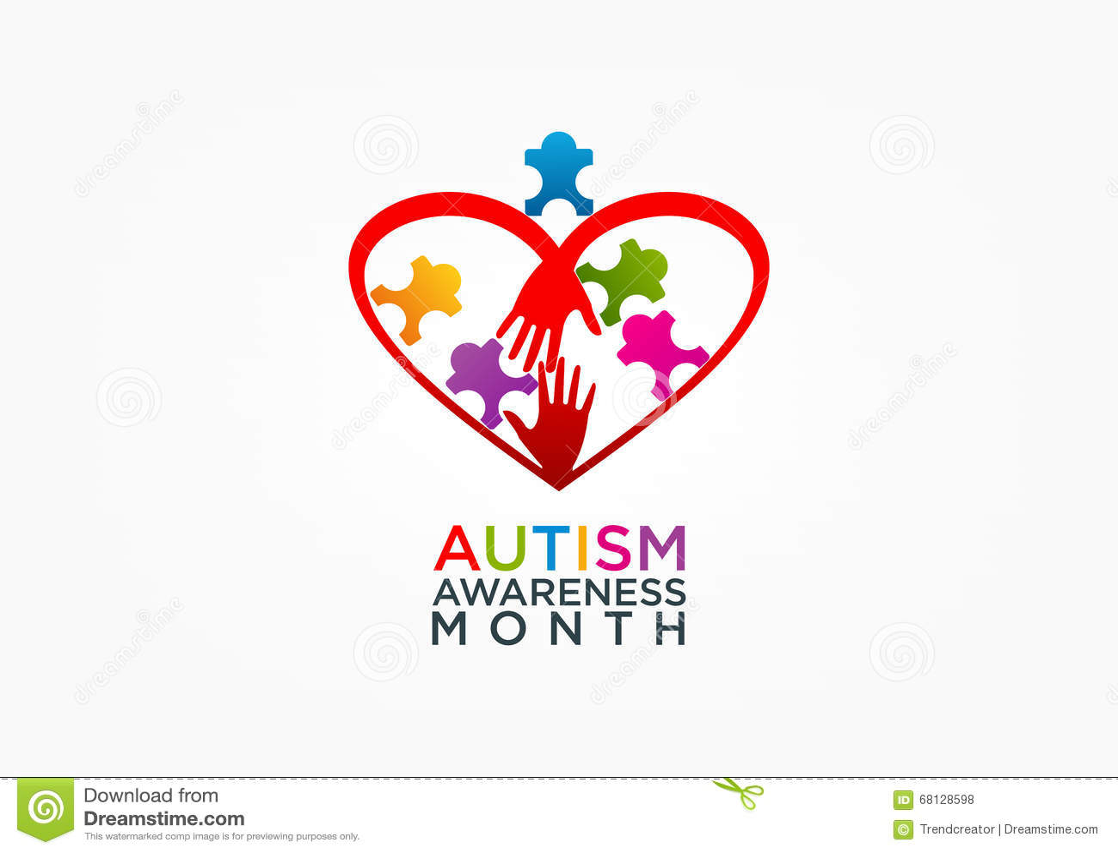 Projeto do logotipo do autismo