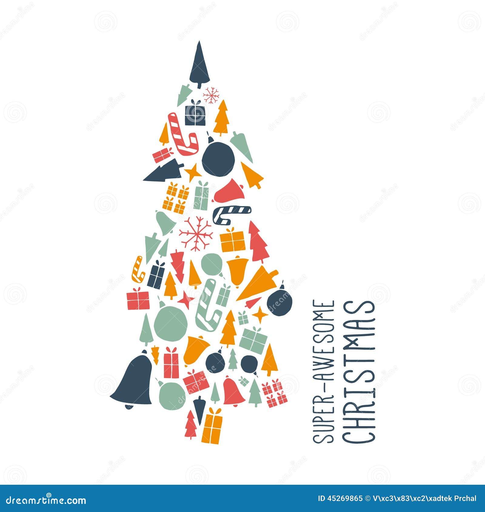 Projeto do Natal do vetor