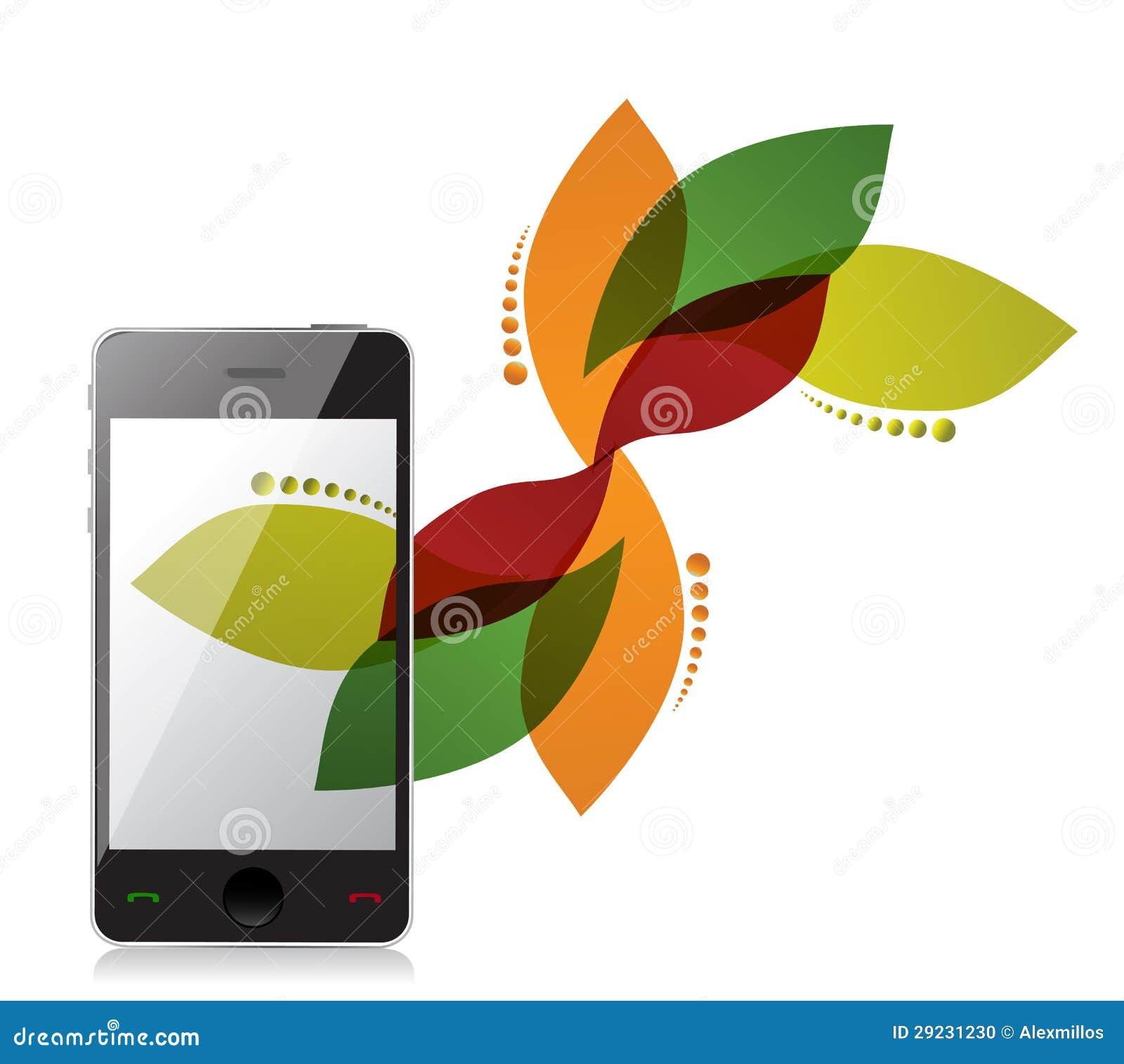 Download Projeto Do Telefone Do Design Floral Ilustração Stock - Ilustração de isolado, dispositivo: 29231230