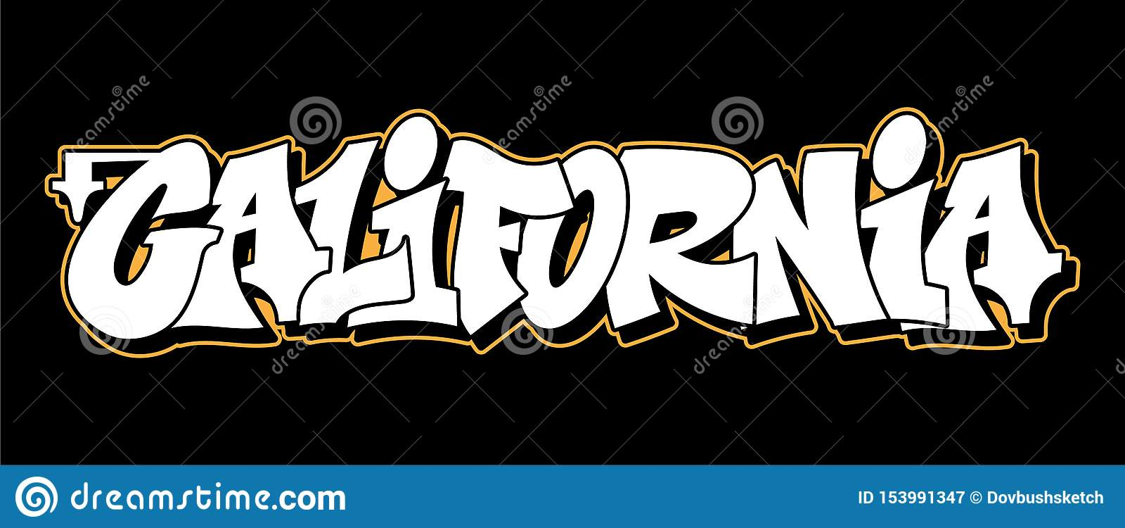 Projeto do texto da rotulação do estilo dos grafittis