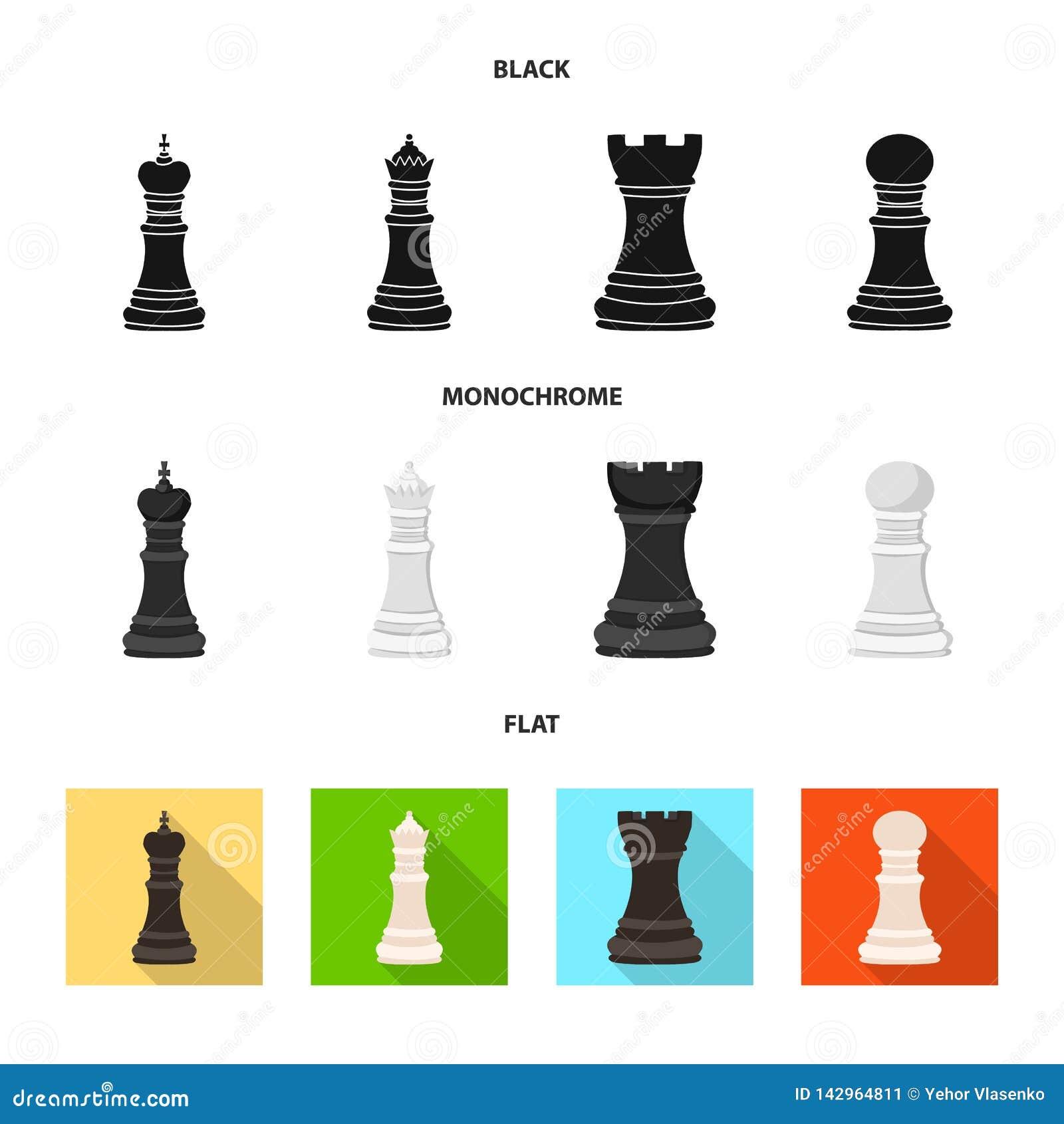 Projeto do vetor do checkmate e do ícone fino Coleção do símbolo de ações do checkmate e do alvo para a Web