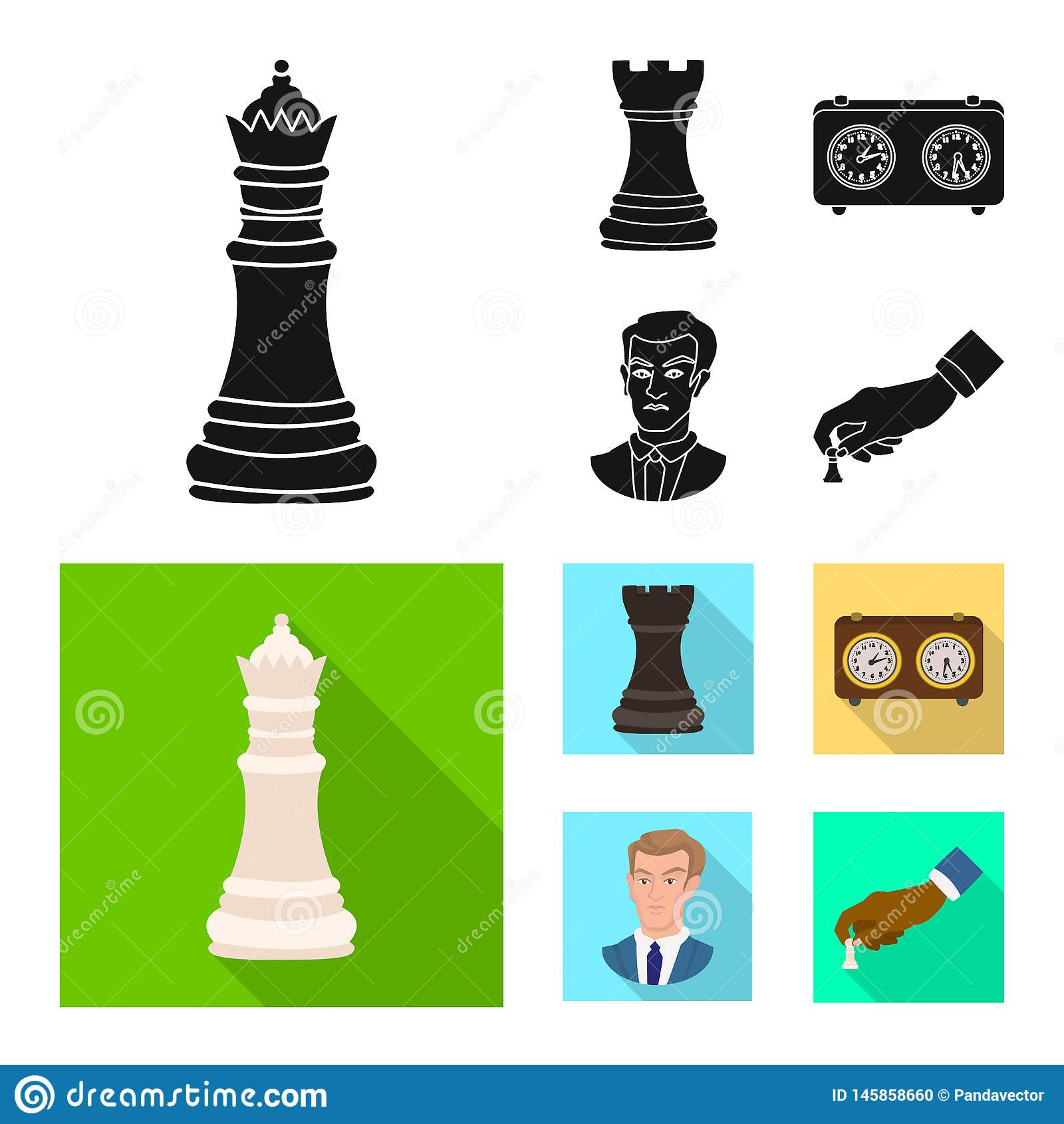 Projeto do vetor do checkmate e do ?cone fino Cole??o do ?cone do vetor do checkmate e do alvo para o estoque