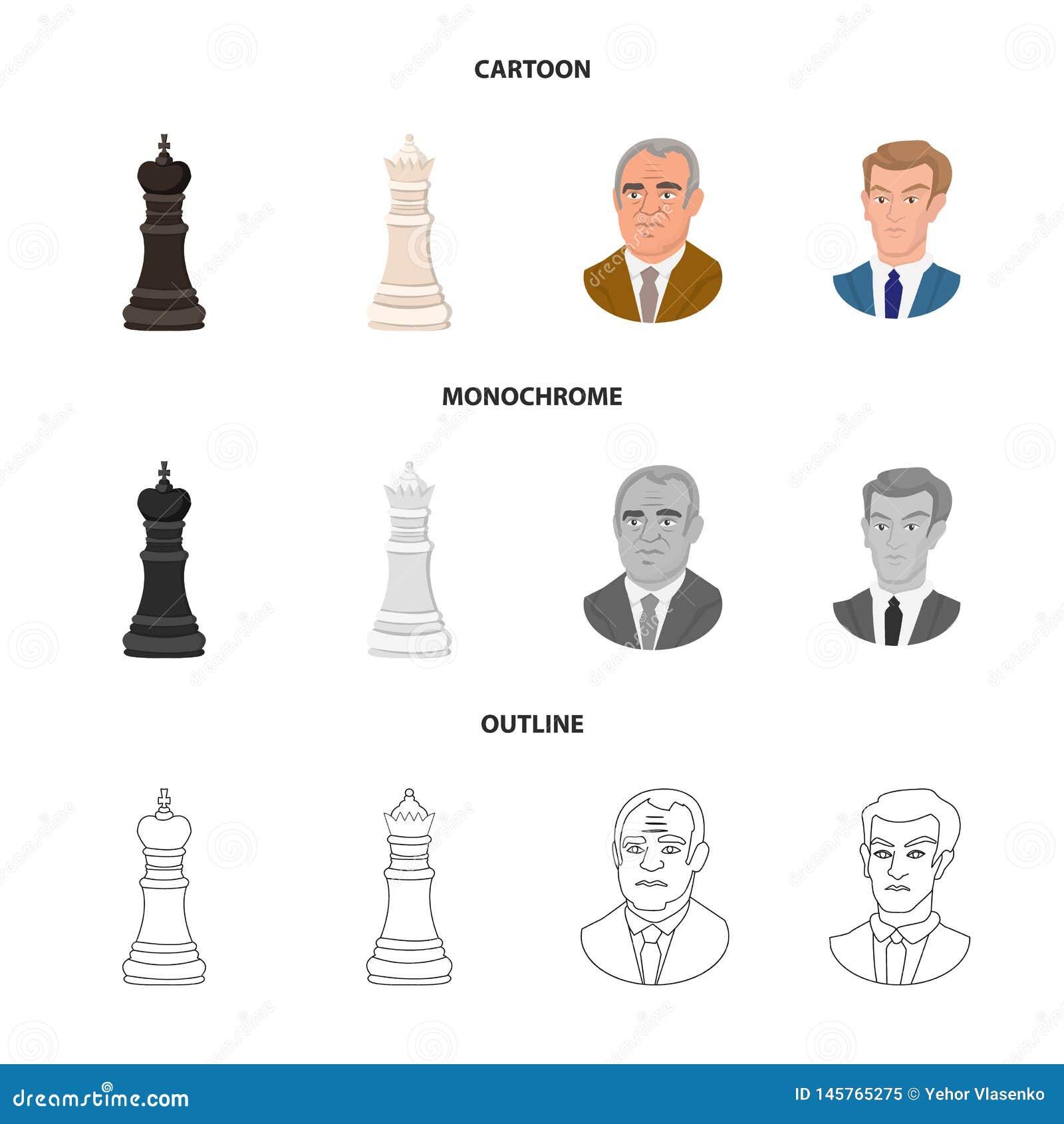 Projeto do vetor do checkmate e do ?cone fino Cole??o da ilustra??o do vetor do estoque do checkmate e do alvo