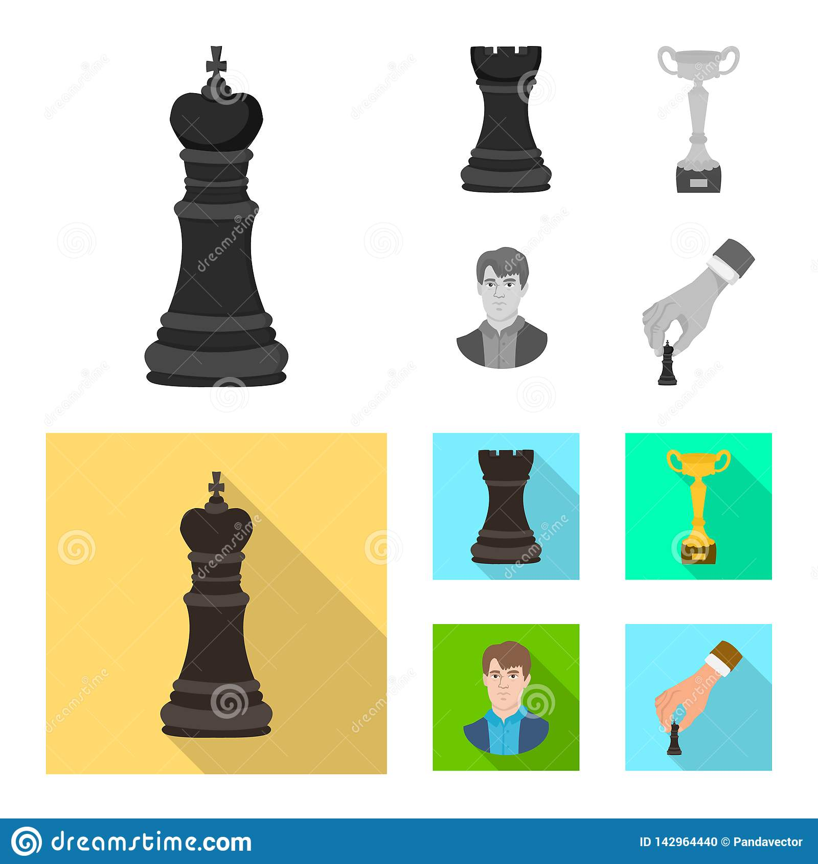 Projeto do vetor do checkmate e do logotipo fino Coleção do ícone do vetor do checkmate e do alvo para o estoque