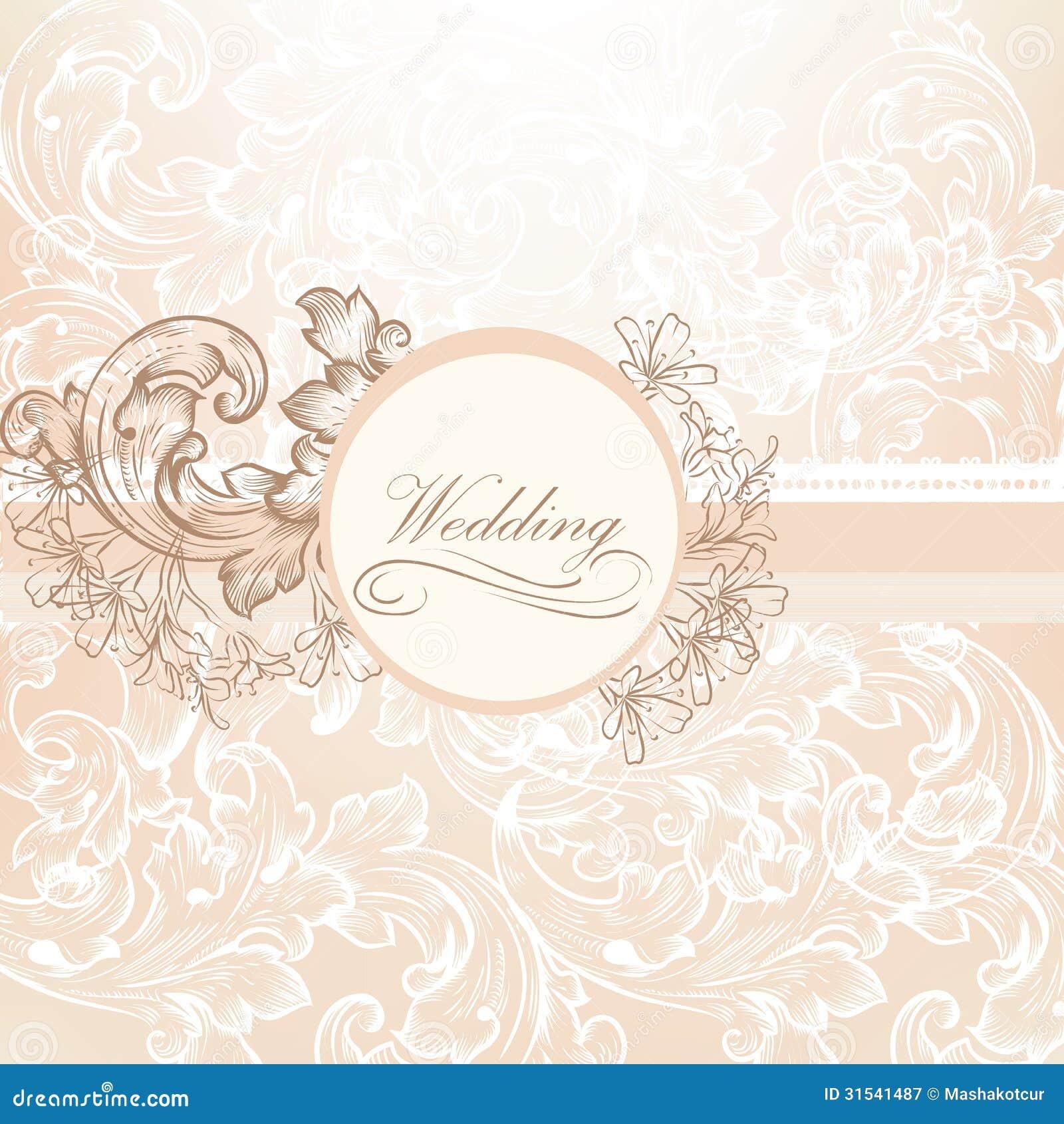 Projeto Do Vetor Do Casamento No Estilo Do Vintage