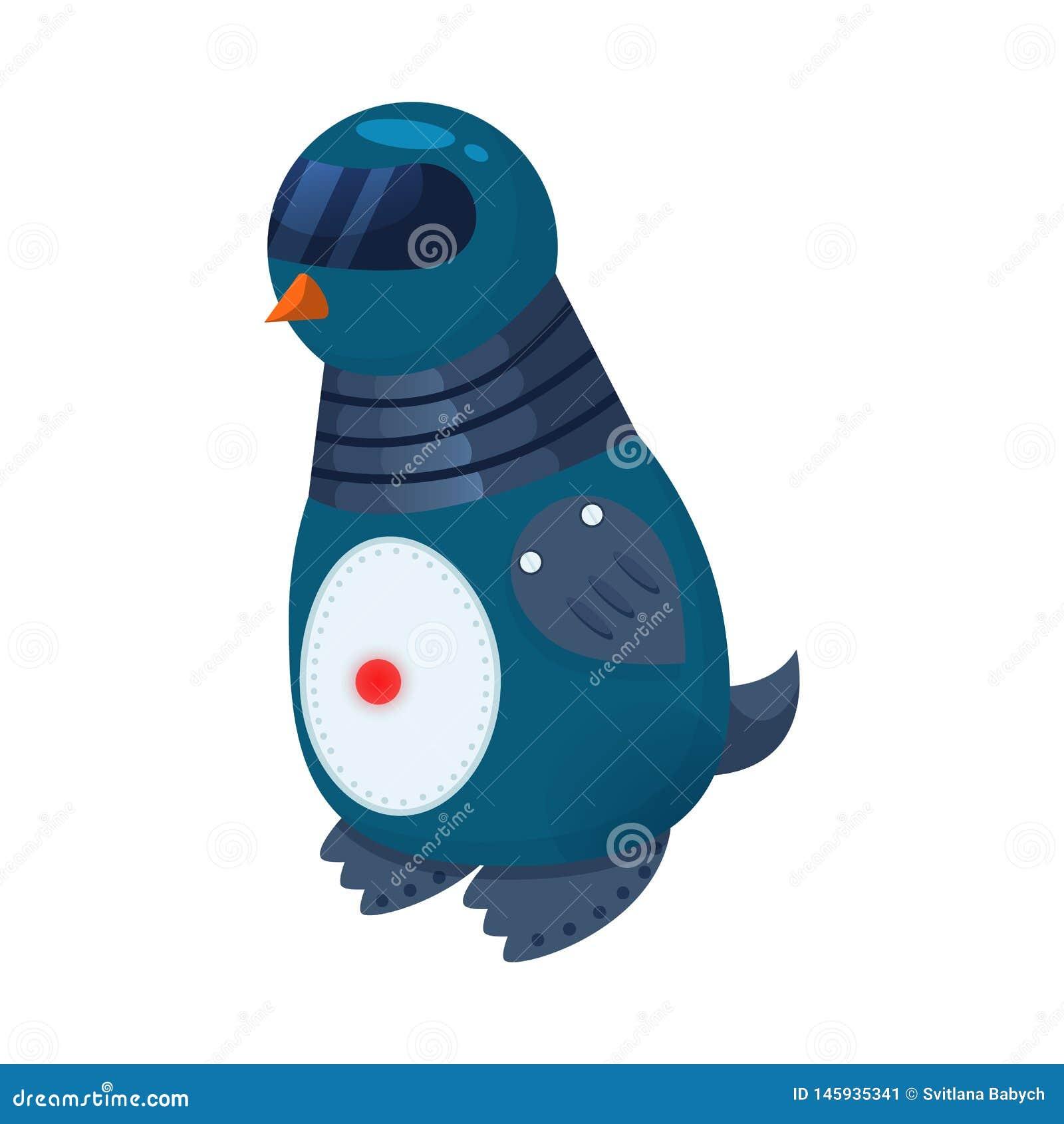 Projeto do vetor do s?mbolo do pinguim e o animal Cole??o da ilustra??o do vetor do estoque do pinguim e do androide