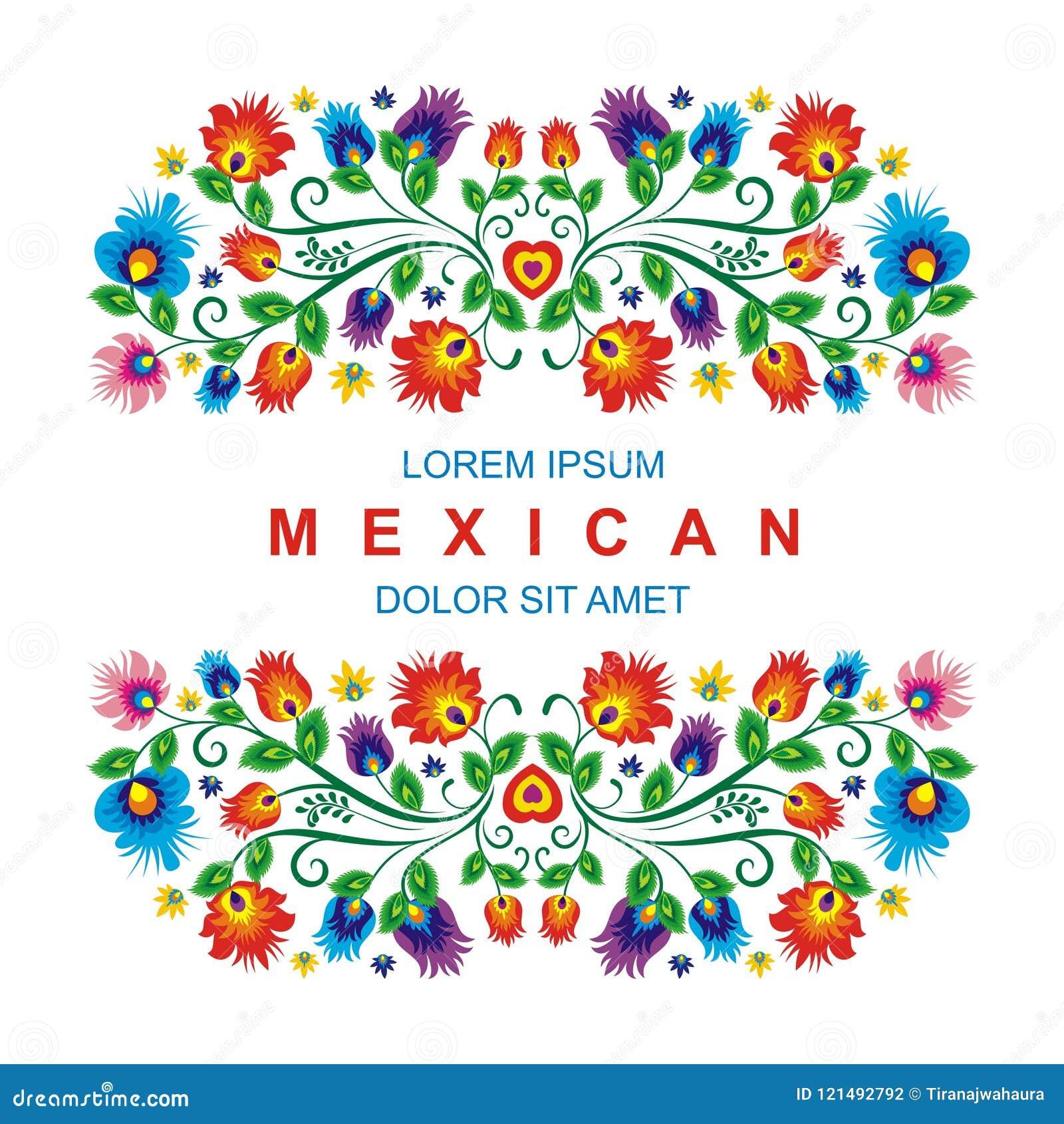 Projeto floral étnico mexicano bonito da decoração