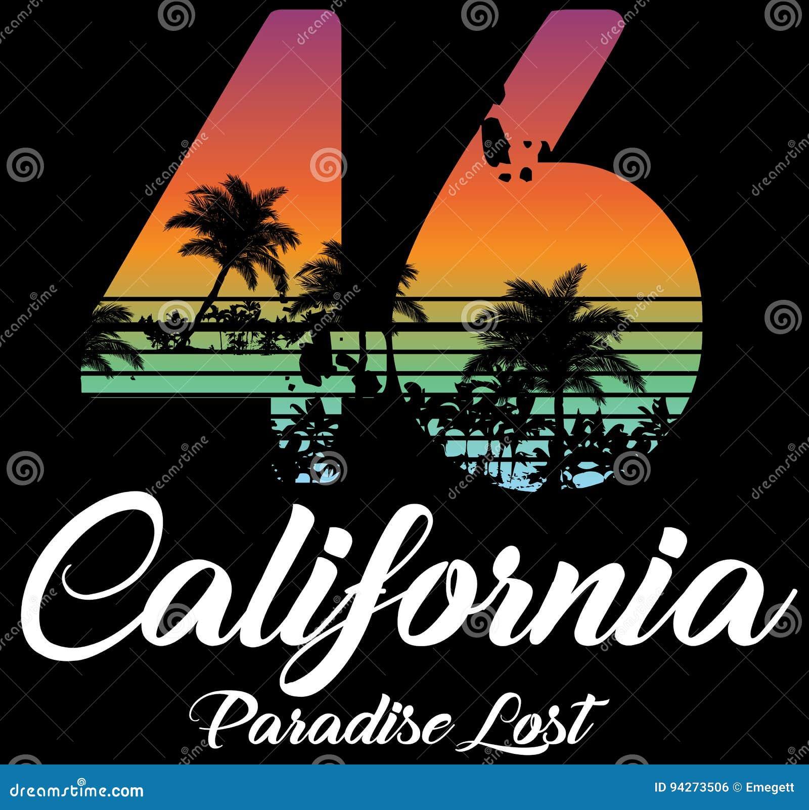 Projeto gráfico da camisa do verão t de Califórnia miami