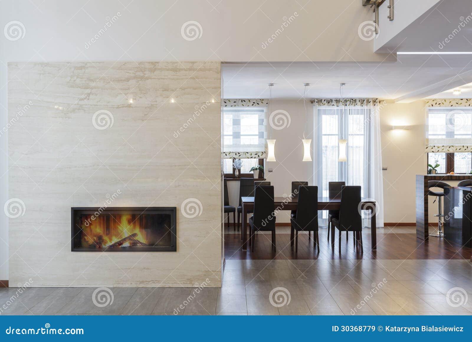 Projeto grande - chaminé e sala de jantar