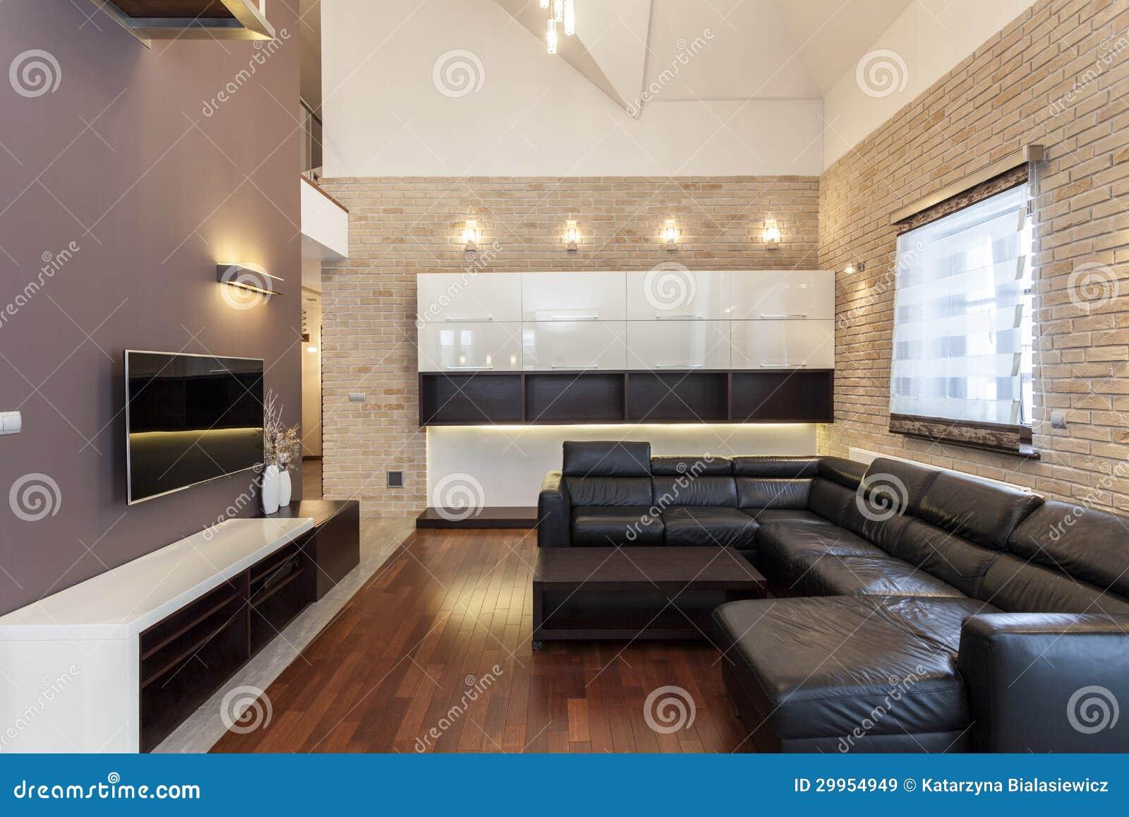 Projeto grande sala minimalista imagens de stock royalty for Casa minimalista grande
