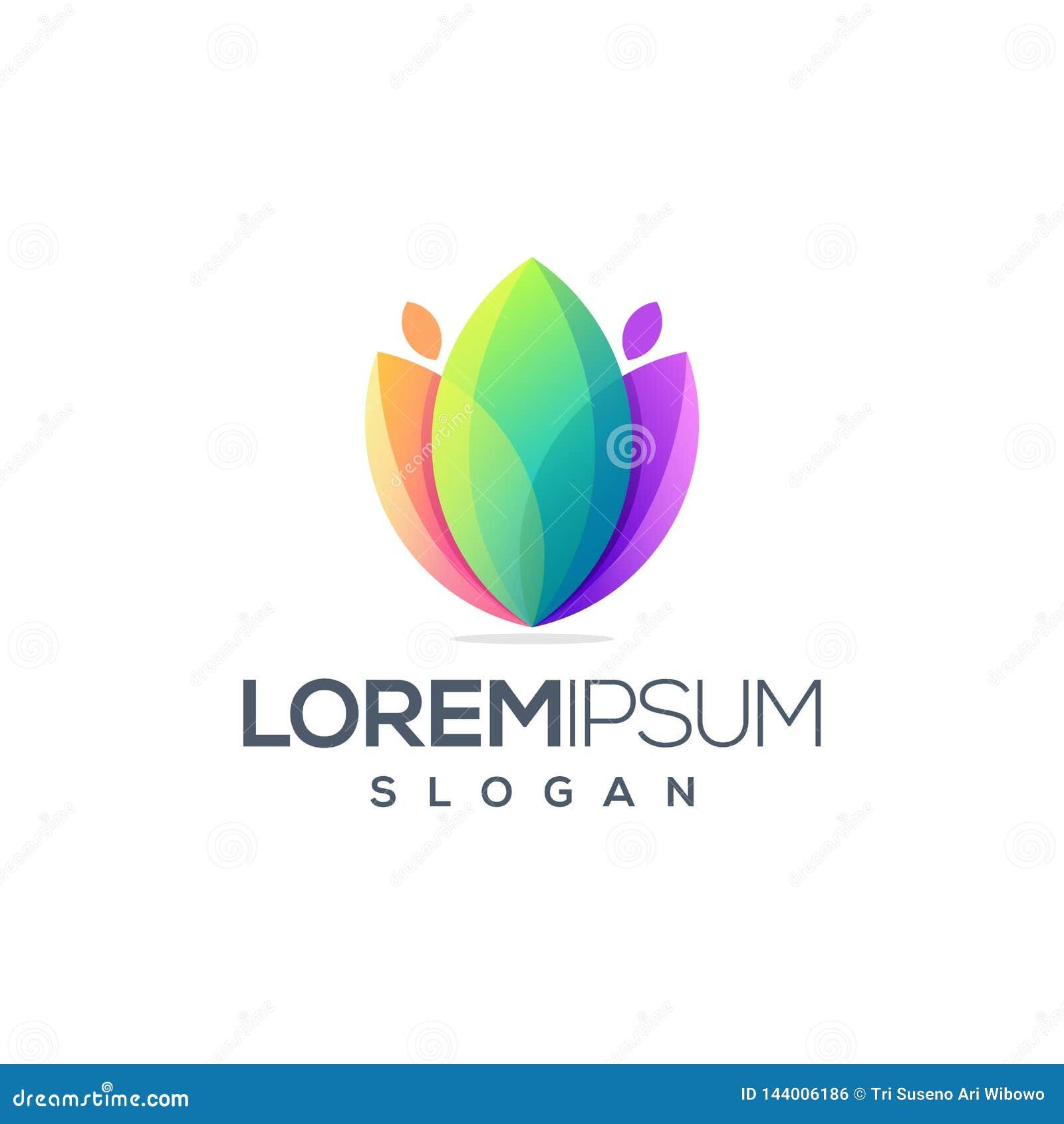 Projeto impressionante do logotipo da flor pronto para uso