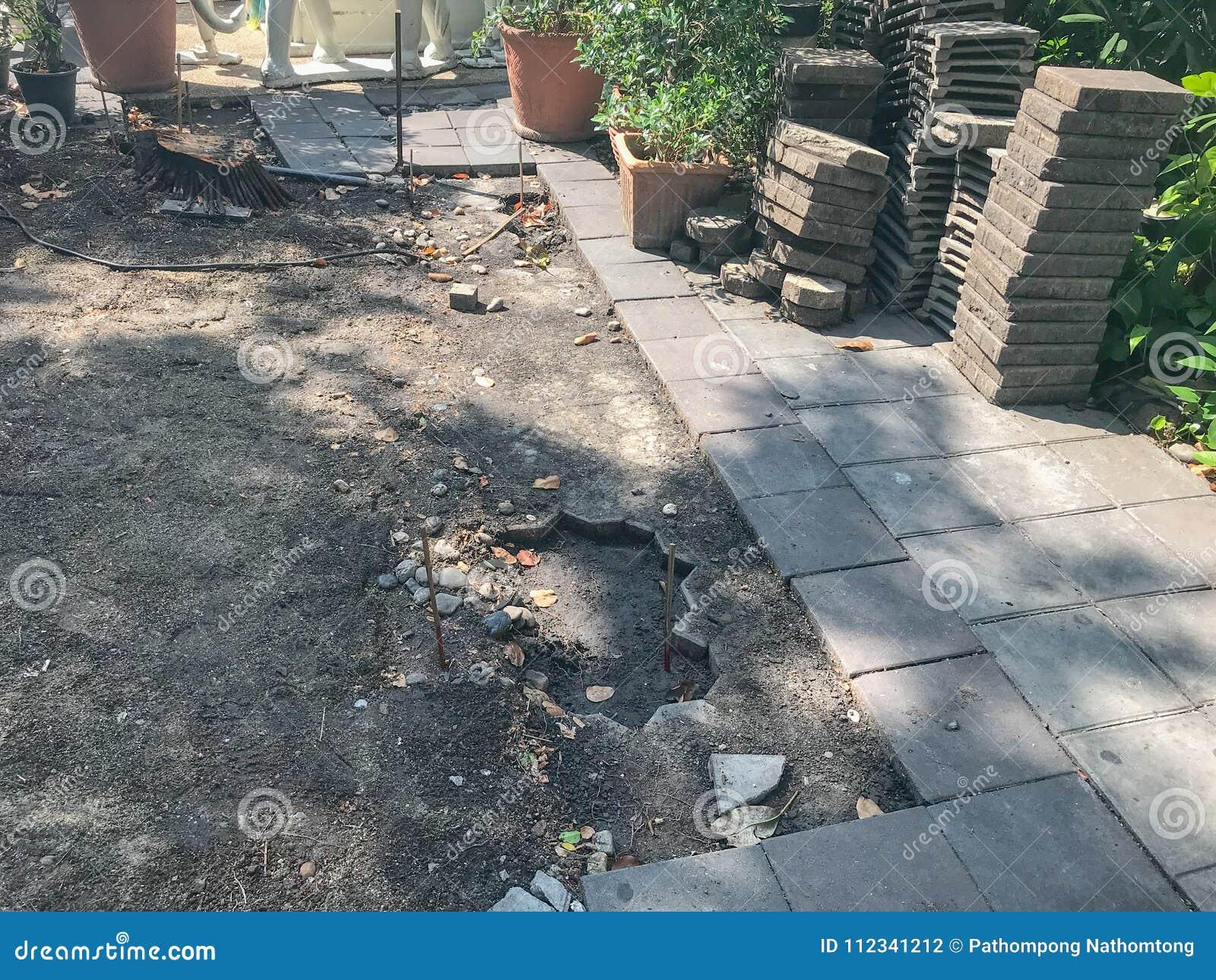 Projeto inacabado do tijolo da telha de assoalho