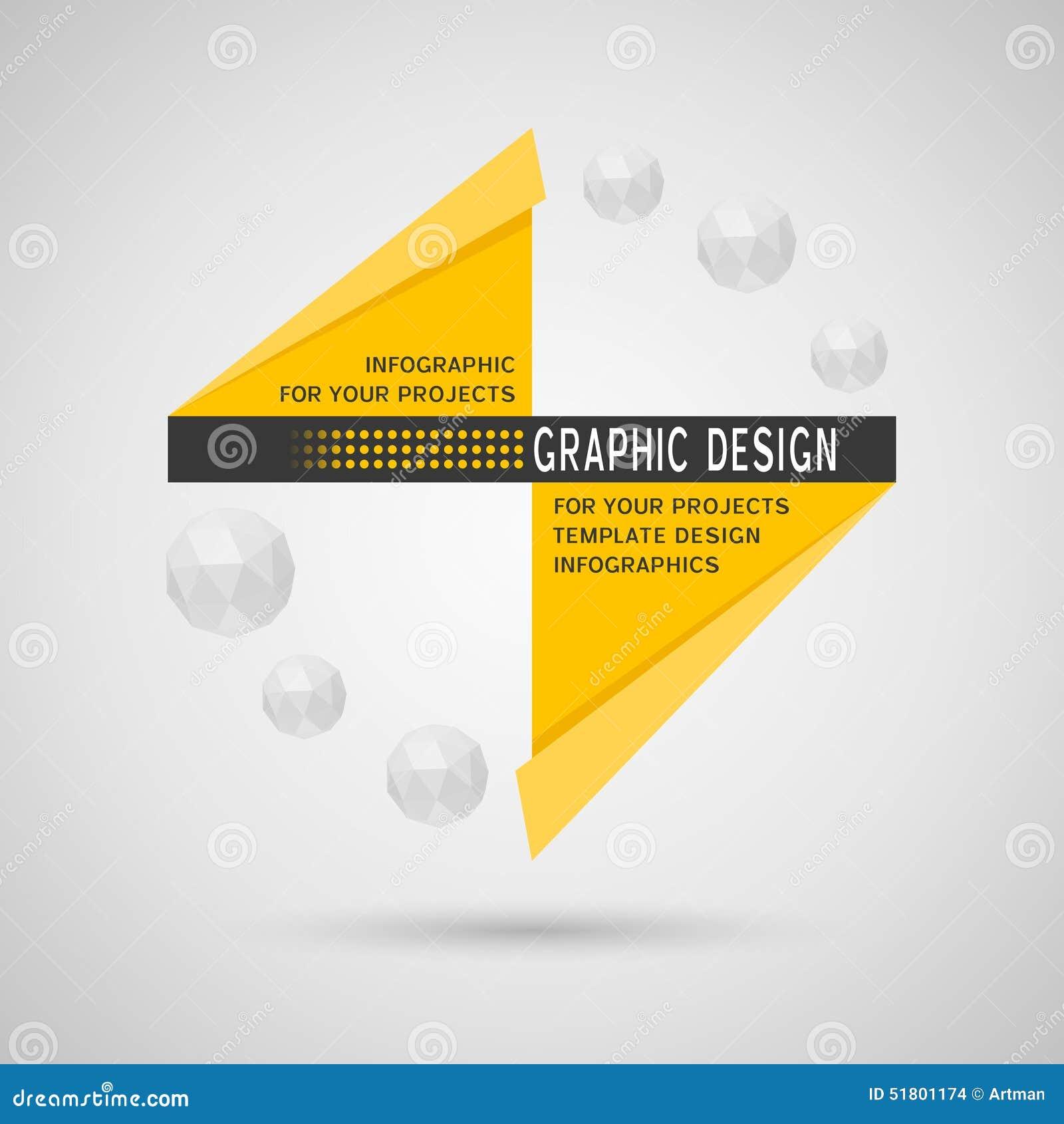 Projeto infographic abstrato com elementos geométricos
