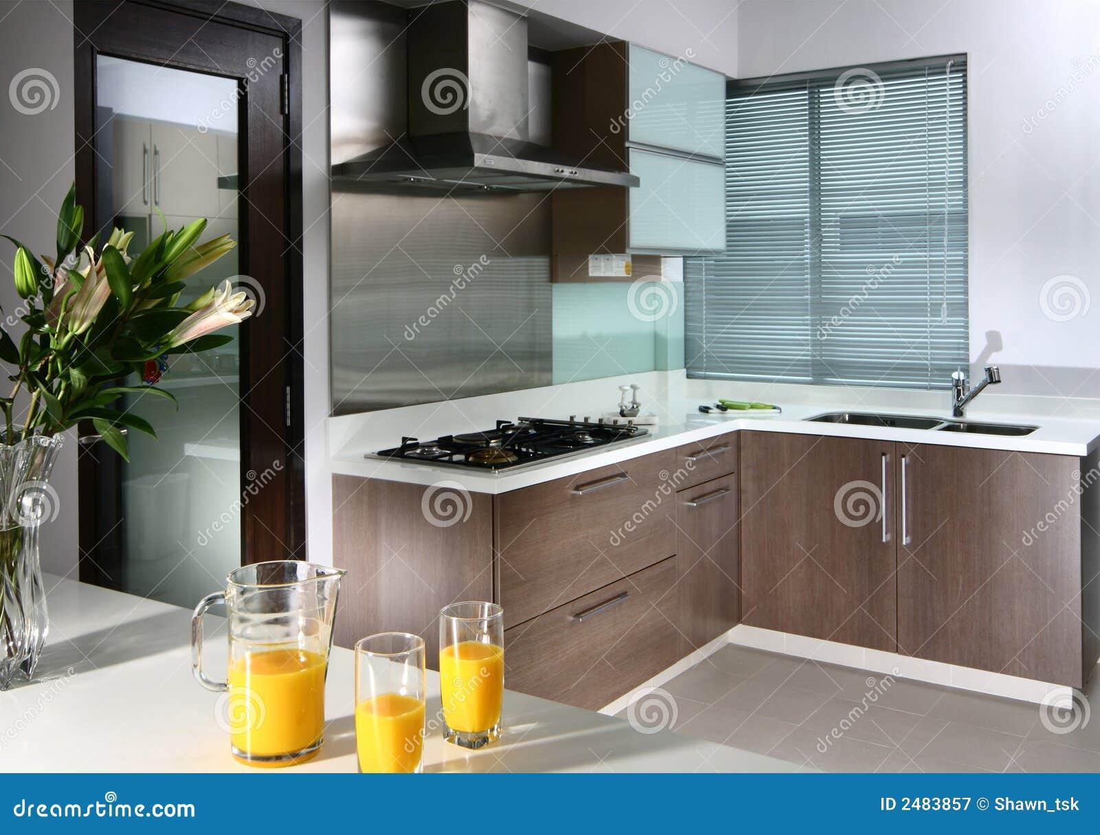 Projeto Interior Cozinha Fotografia de Stock Royalty Free Imagem  #C3A208 1300 1004