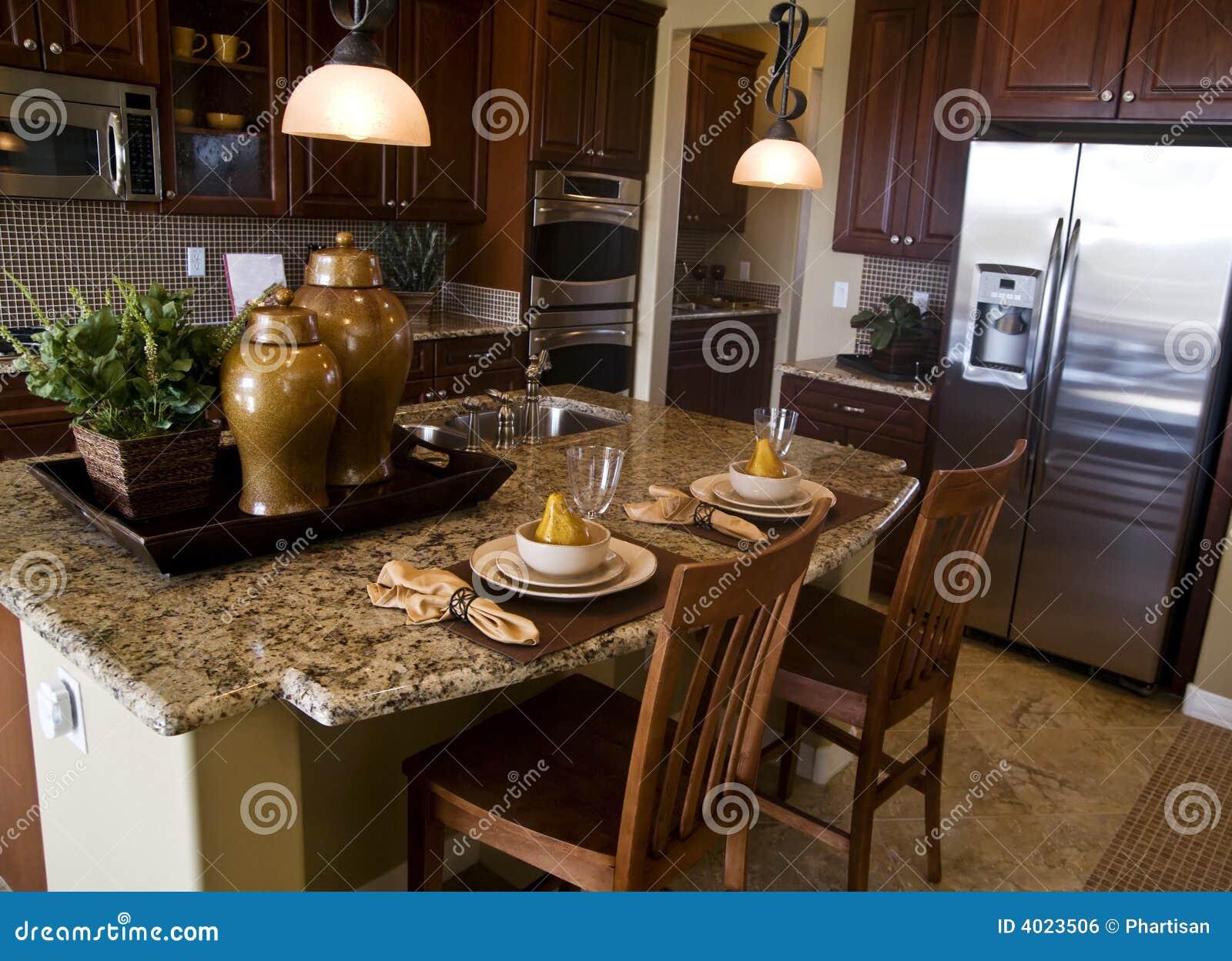Projeto Interior Da Cozinha Moderna Imagem de Stock Royalty Free  #986E33 1300 1031