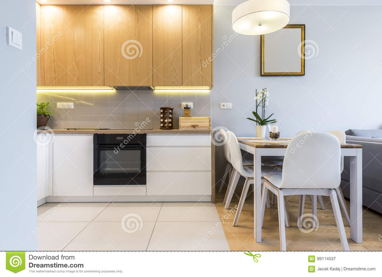 Projeto Interior Da Cozinha Moderna Imagem De Stock Imagem De