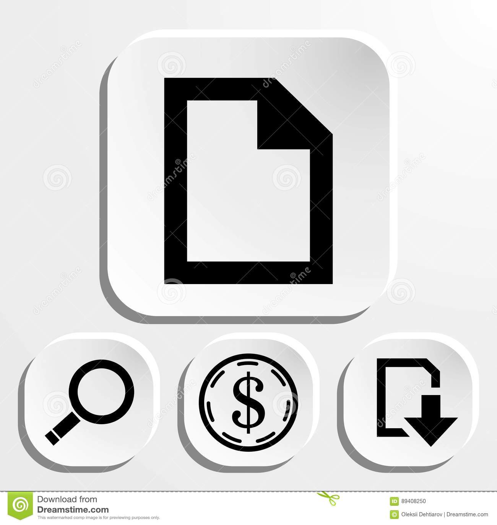 Projeto liso da ilustração do vetor do estoque do ícone do arquivo
