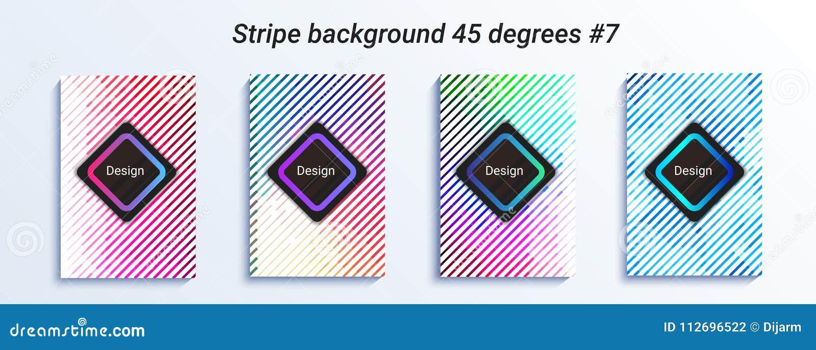 Projeto listrado mínimo do bakcground Inclinação de intervalo mínimo colorido Teste padrão geométrico brilhante Ilustração do vet