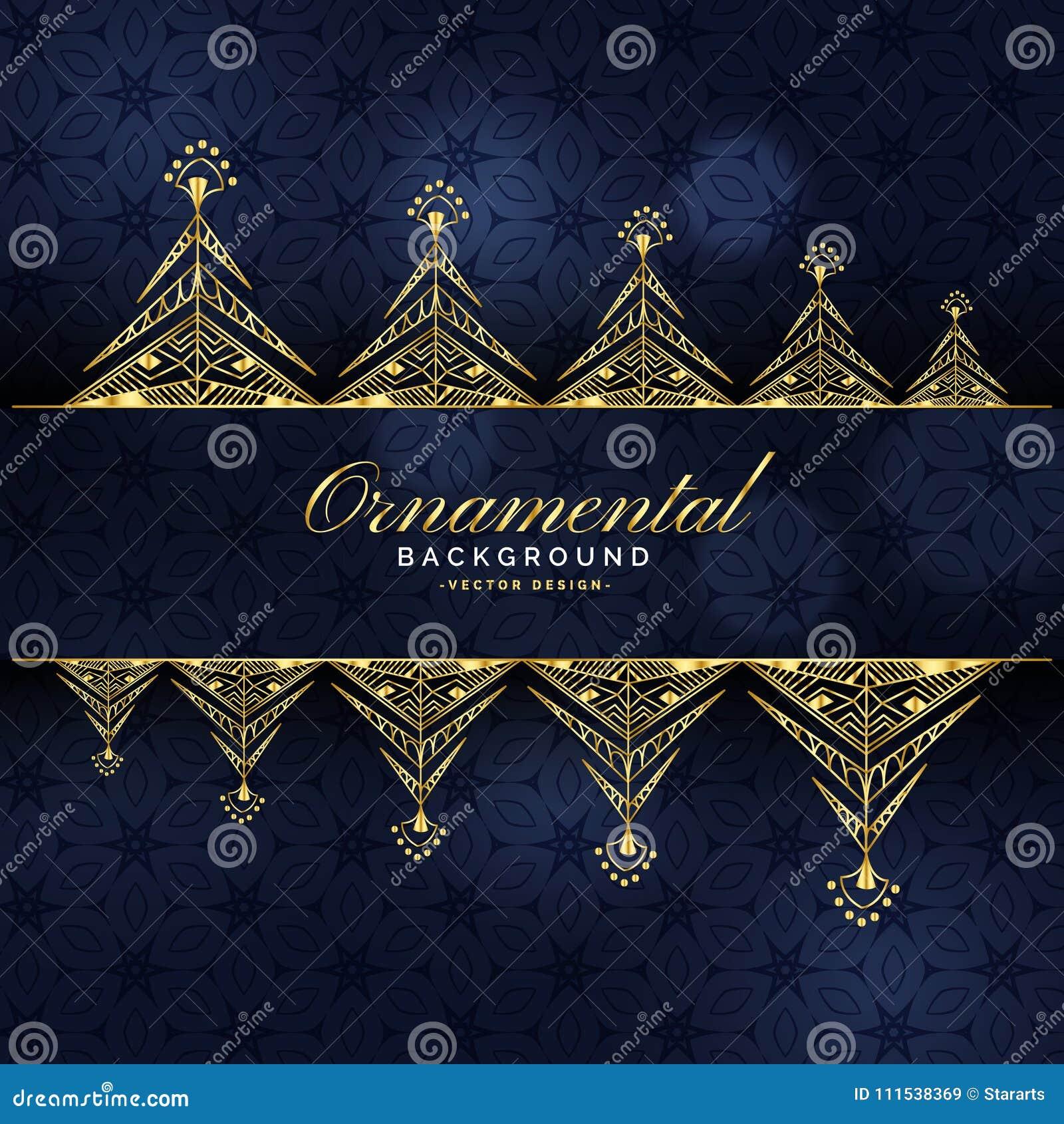 Projeto luxuoso decorativo dourado do fundo