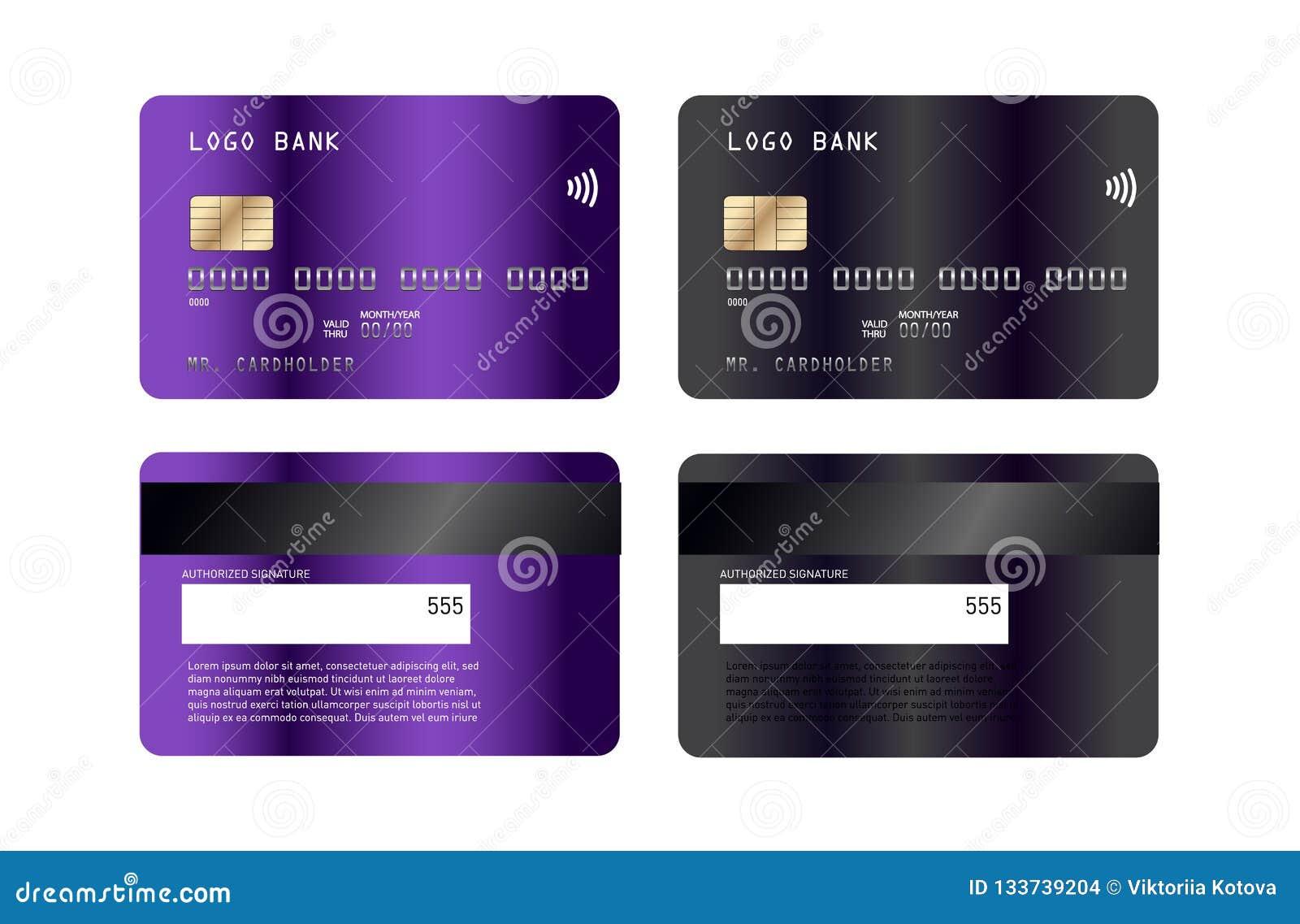 Projeto luxuoso do molde do cartão de crédito Com inspiração do sumário Ilustração do vetor Mockupn do cartão de crédito do crédi