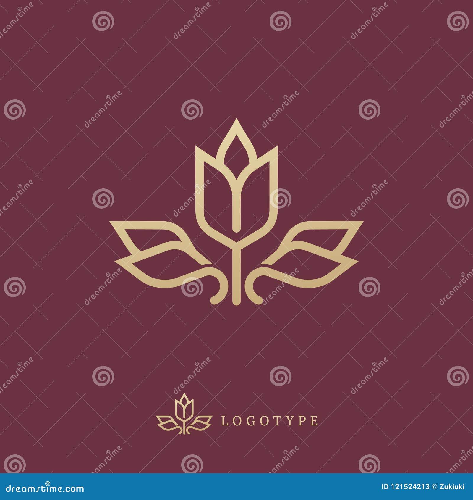 Projeto luxuoso floral do logotipo da curva do vetor Quadro de Rose Ornate Elemento superior do vetor do projeto do vintage
