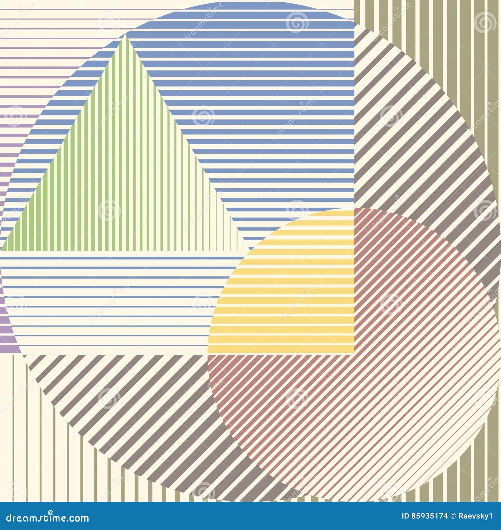Projeto minimalistic colorido com as formas geométricas que formam o fundo bonito abstrato Decoração perfeita para