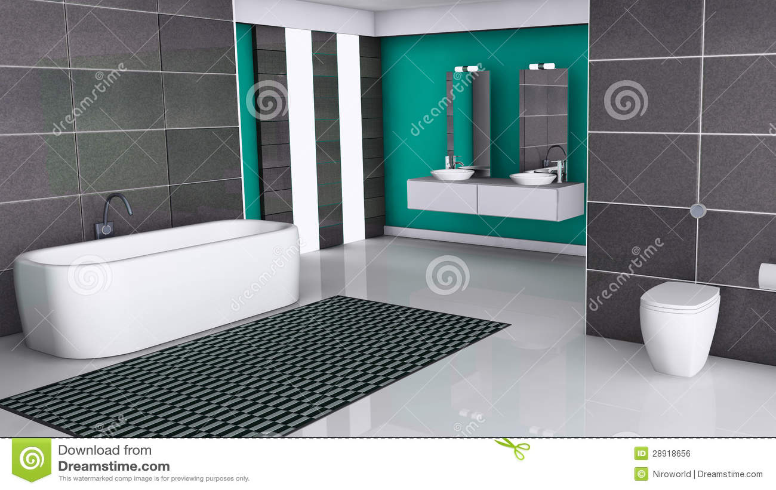 Interior da HOME de um banheiro moderno com projeto contemporâneo  #12766D 1300 837
