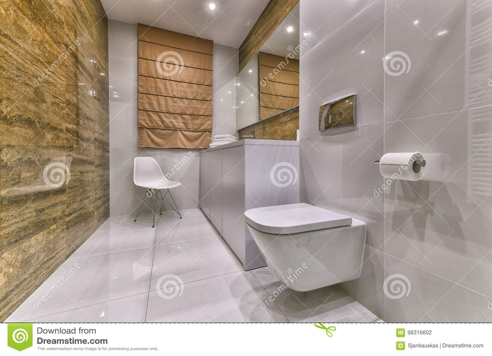 Projeto moderno do banheiro