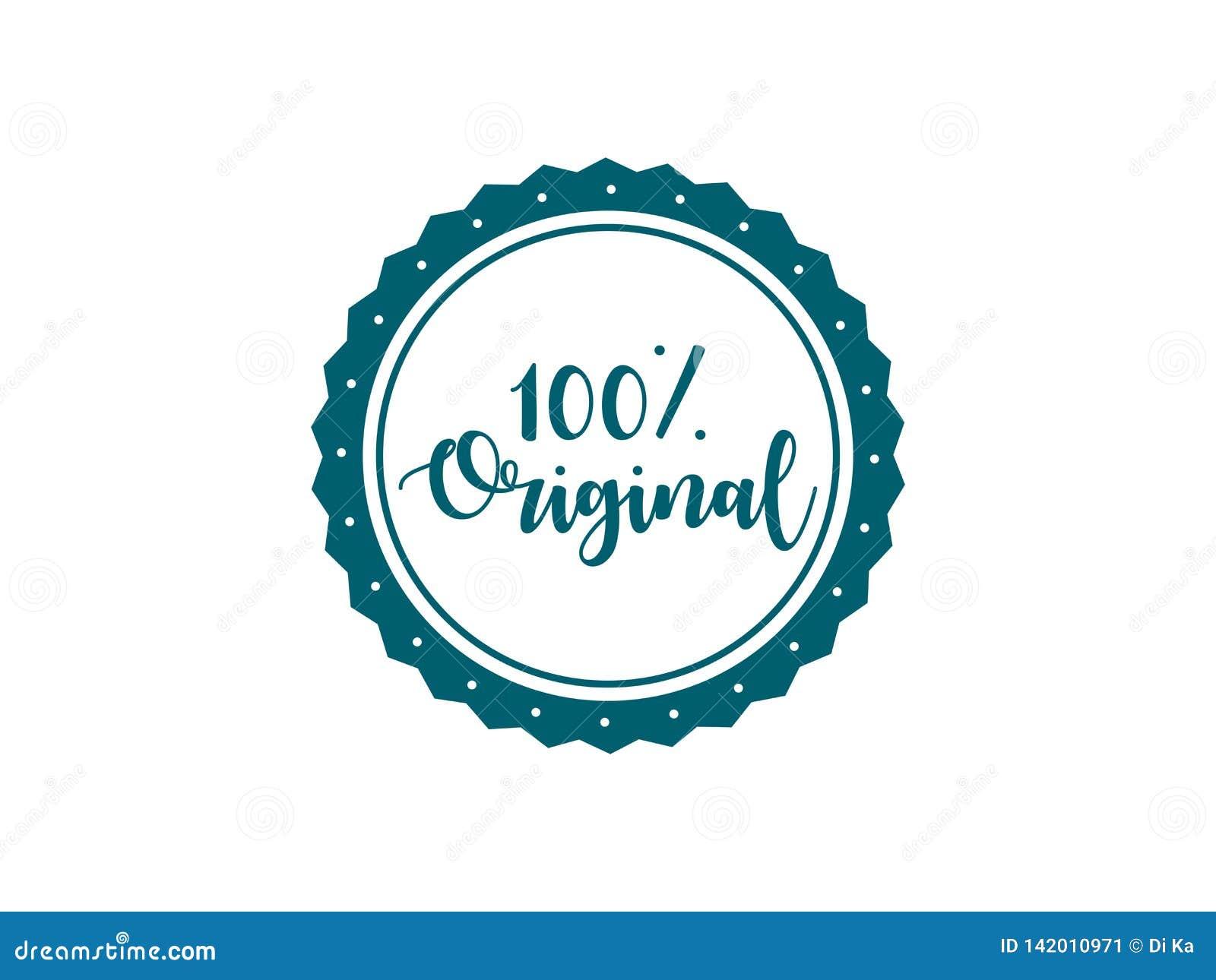 Projeto original do vetor do selo de 100