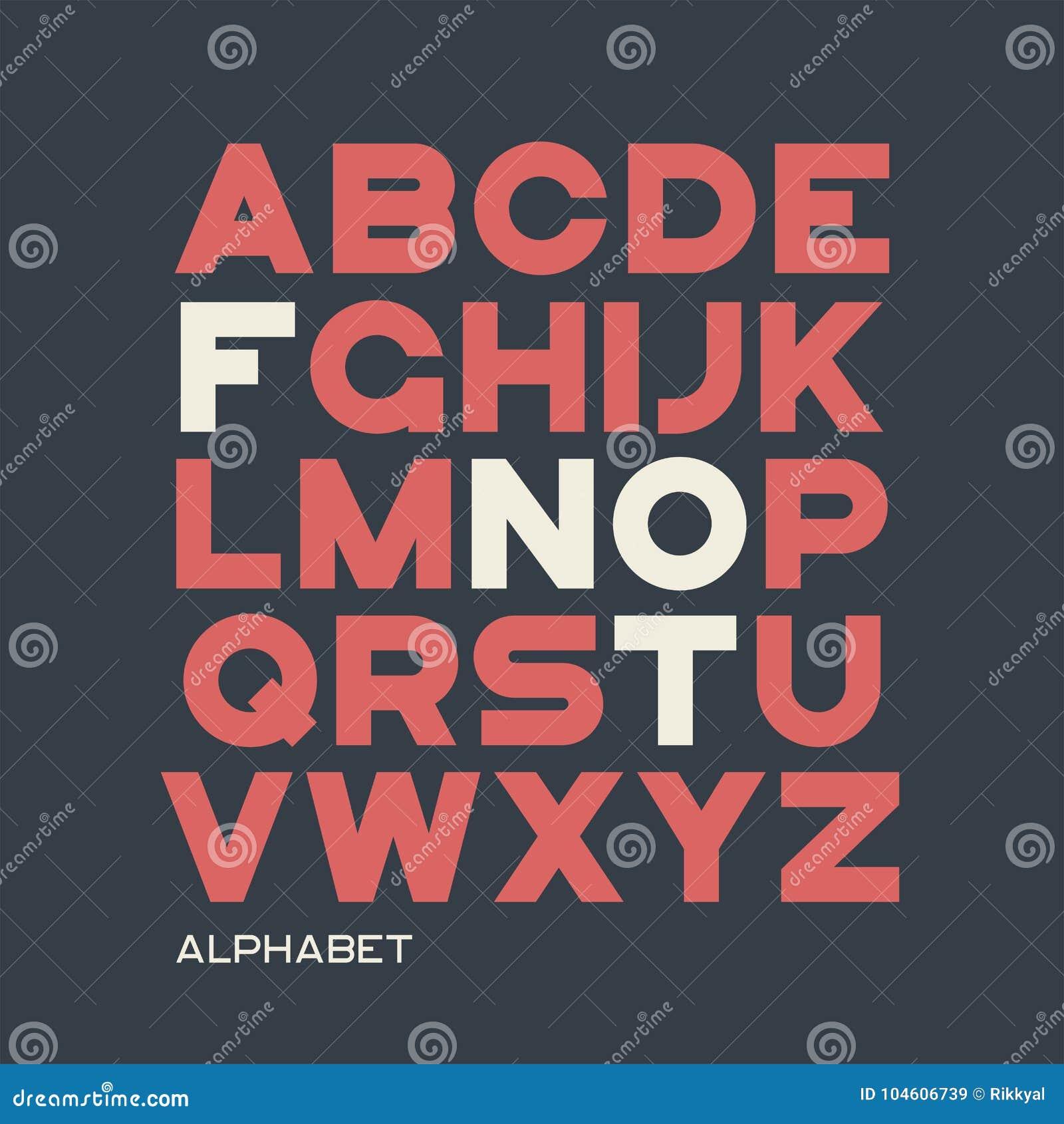 b2a623a05 Projeto Pesado Do Caráter Tipo De Sans Serif Alfabeto Do Vetor ...