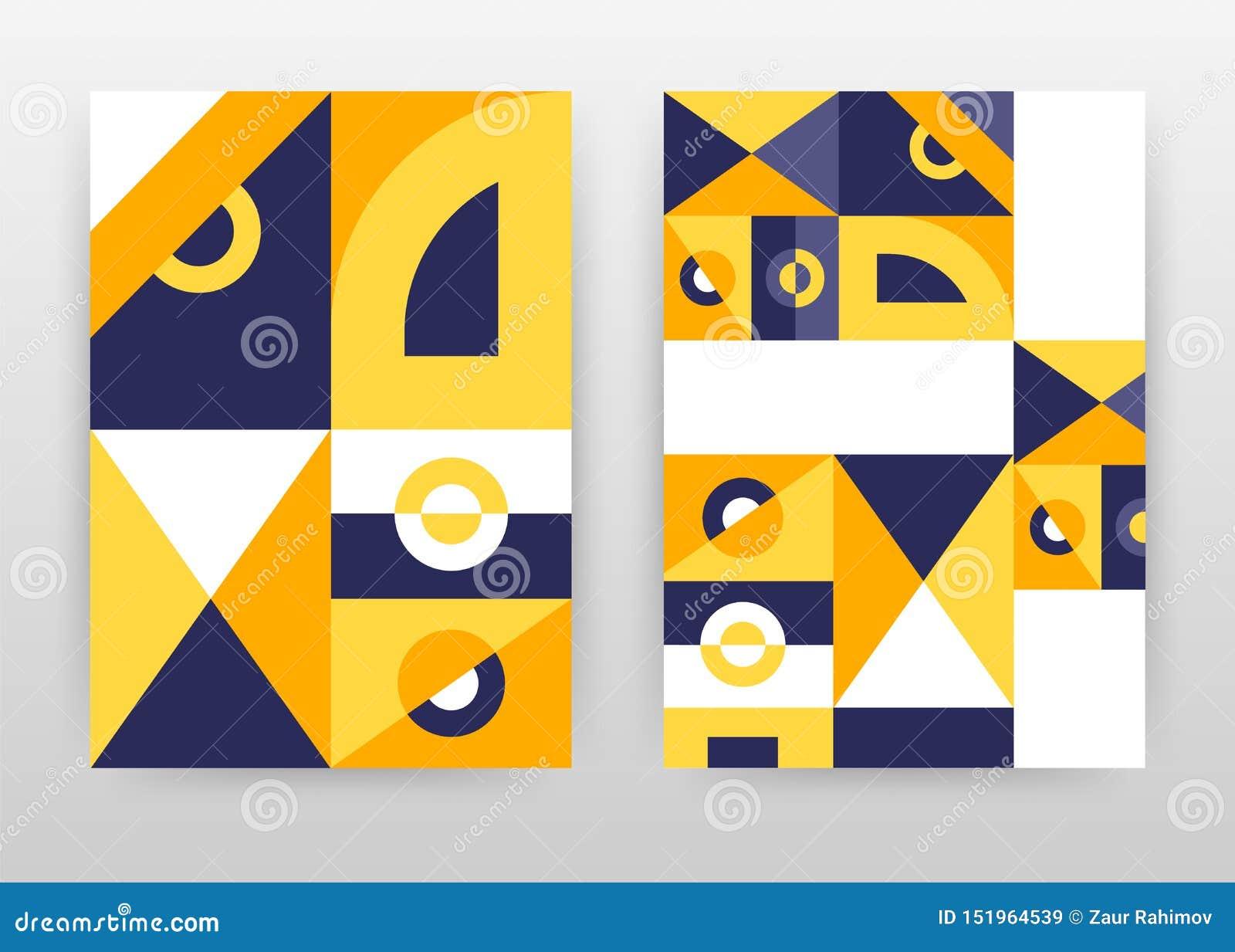 Projeto roxo amarelo geométrico do fundo do negócio das formas para o informe anual, folheto, inseto, cartaz Sumário alaranjado d