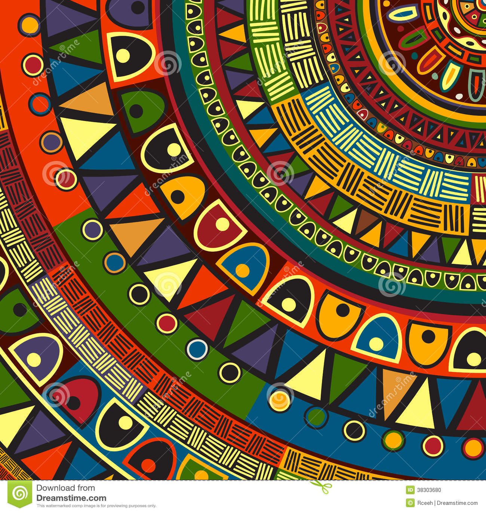 Projeto tribal colorido