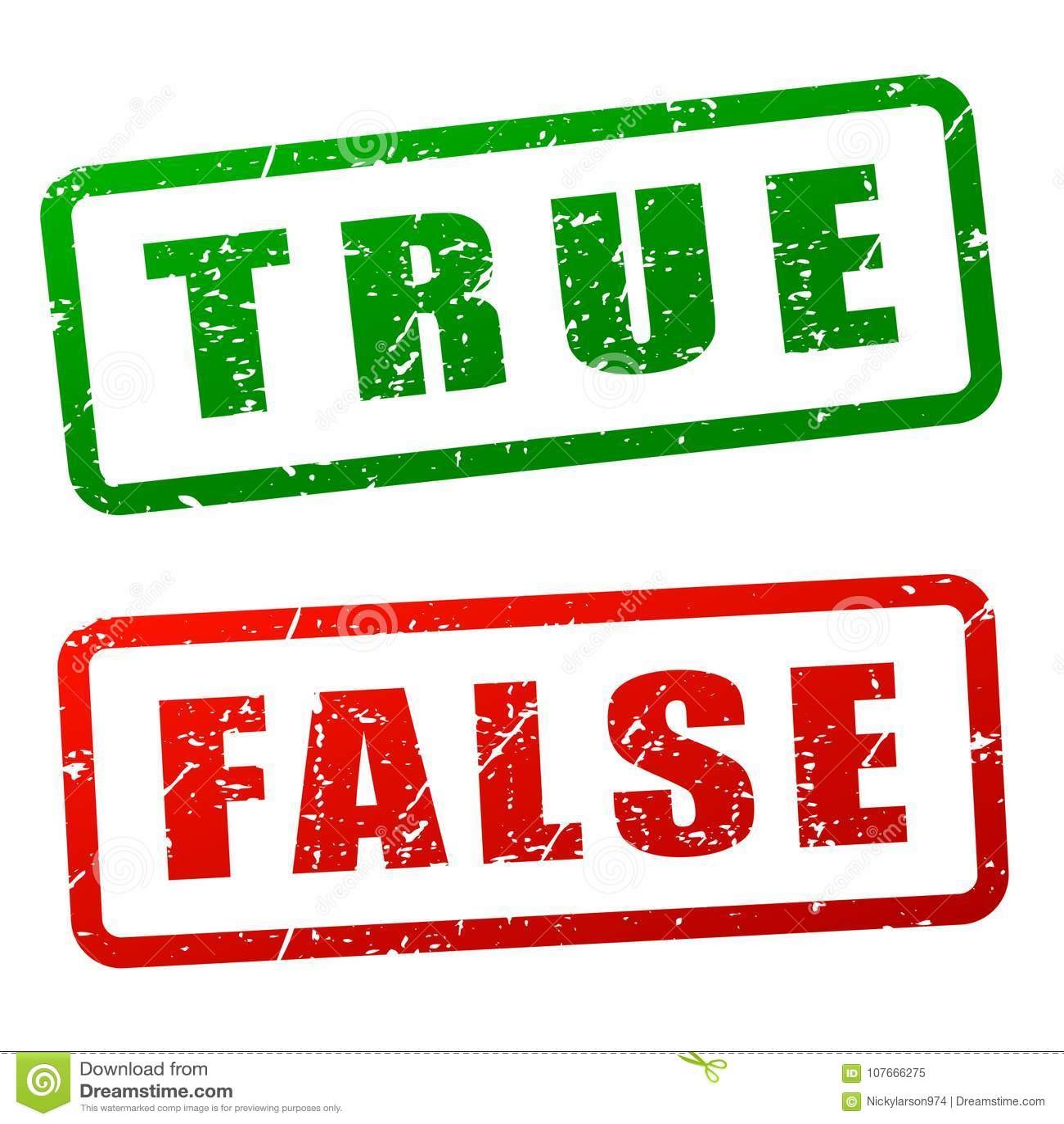 Projeto verdadeiro e falso do selo